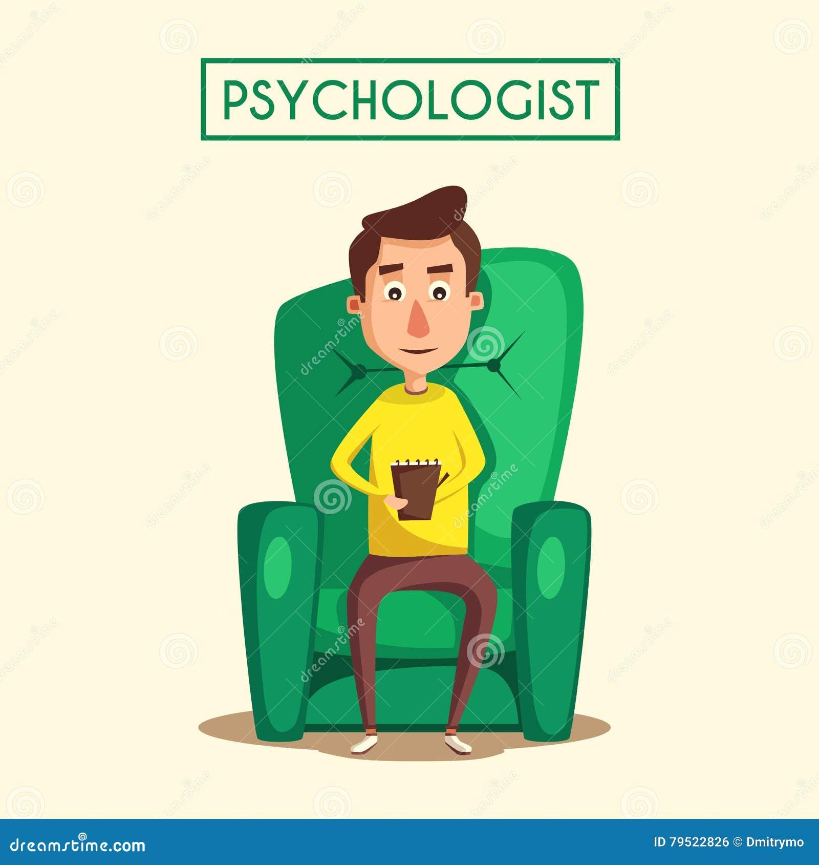Patient Talking To Psychologist Cartoon Vector Illustration Stock