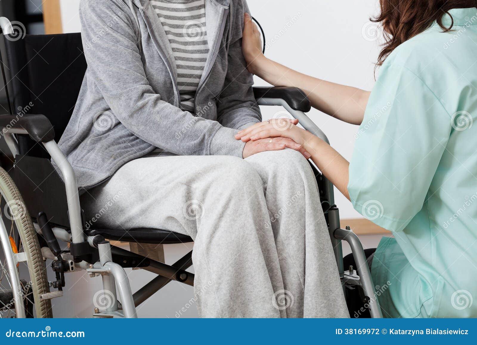 Patiente de soutien d infirmière