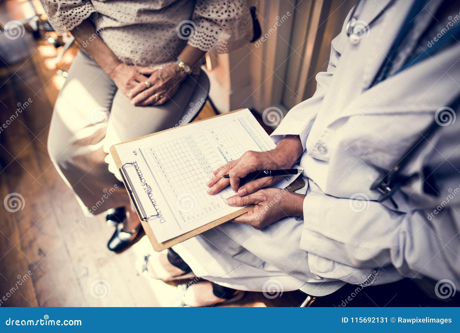 Patienten möter en doktor
