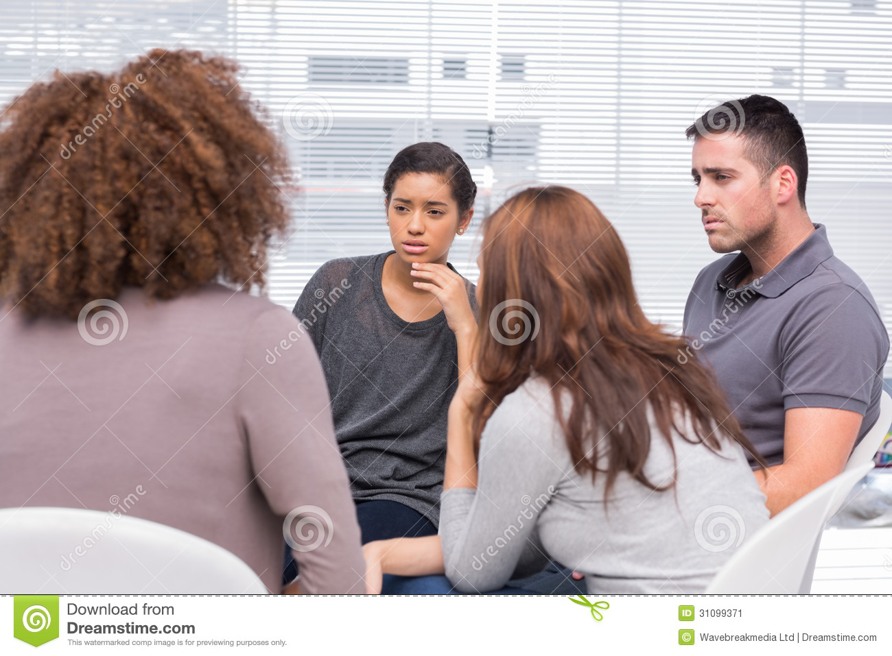 Patients listening to another patient