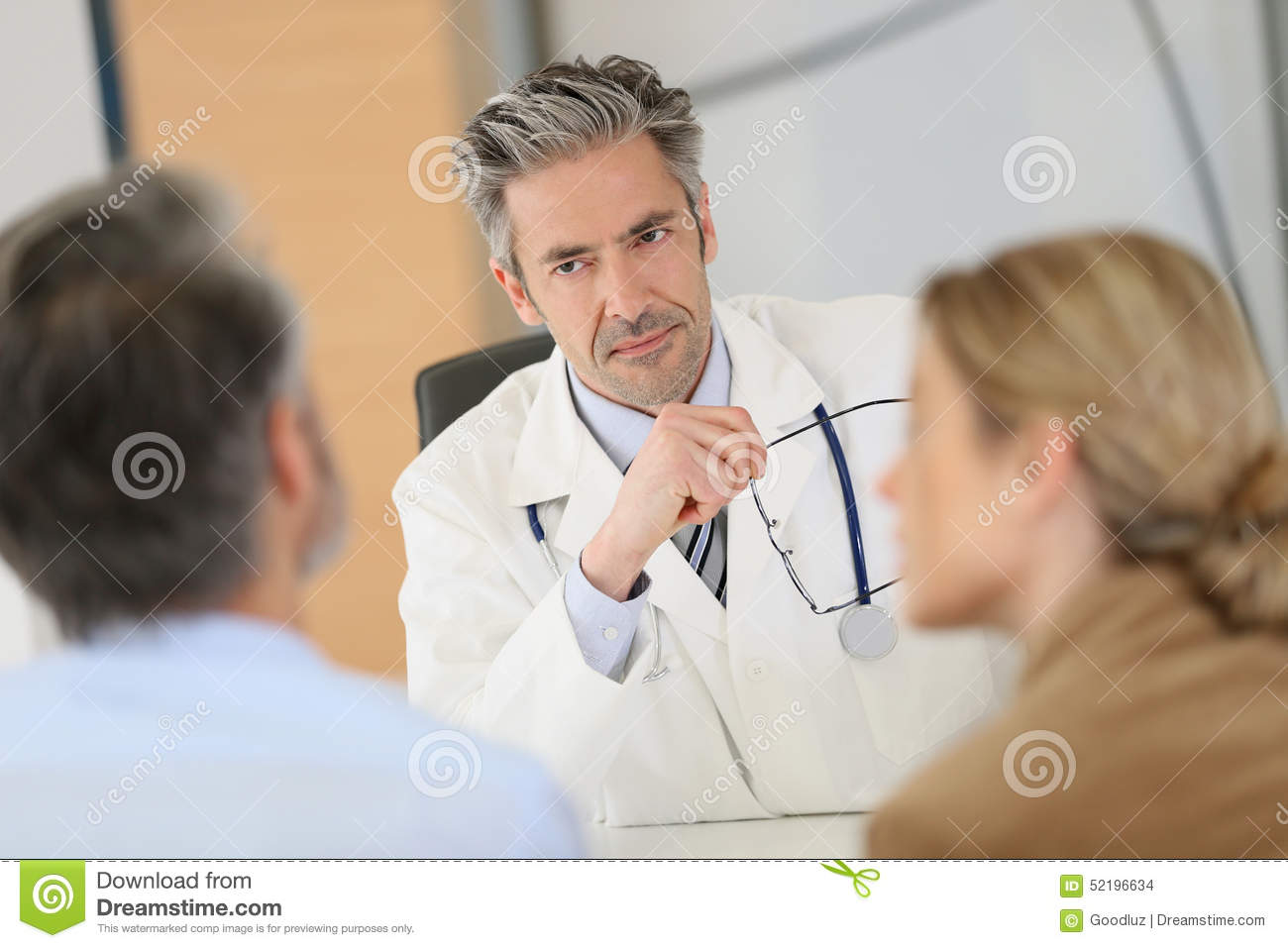 Patients meeting doctor for a medical advice