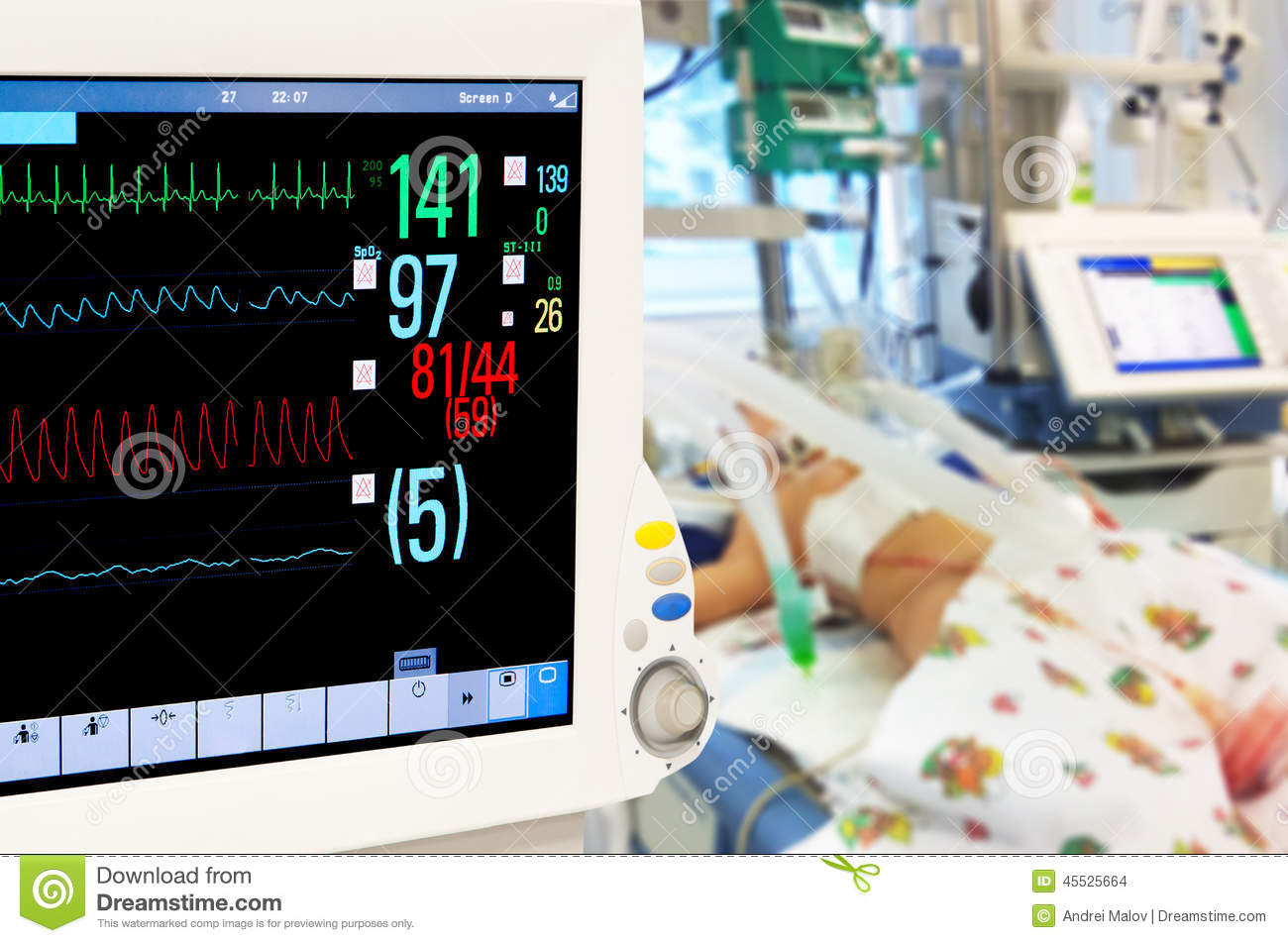 Patients Monitor In Neonatal Icu Stock Photo Image 45525664