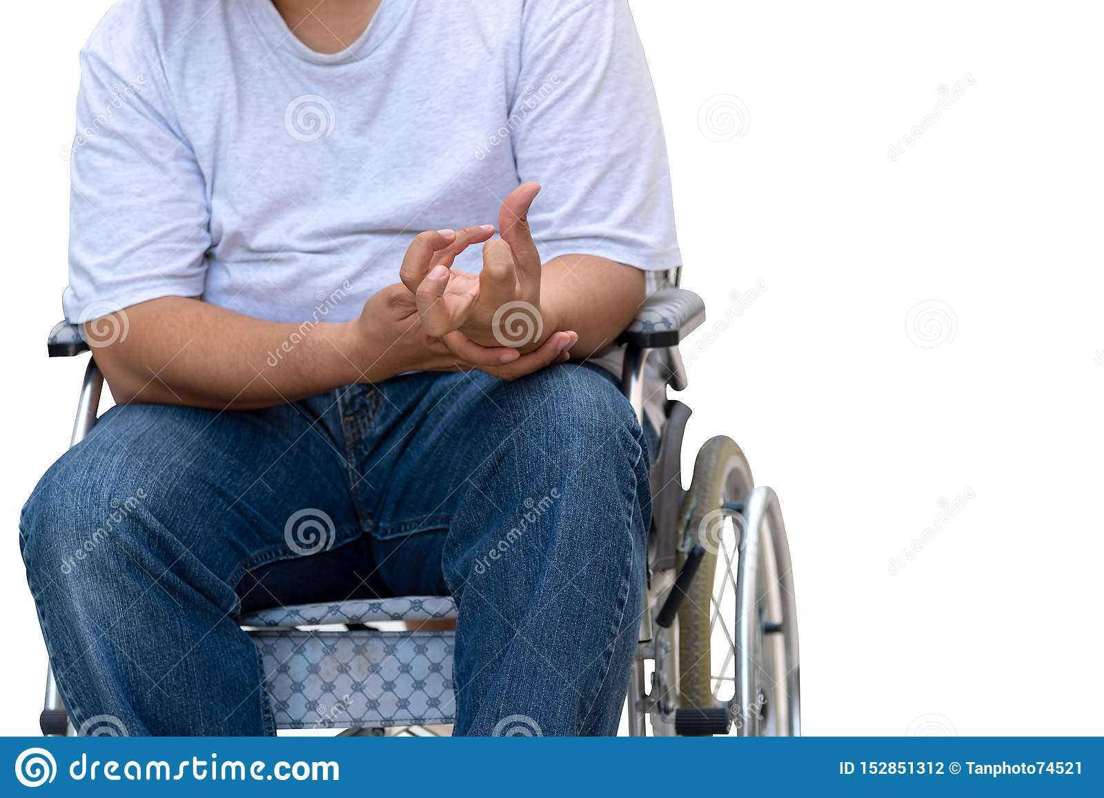 Patients Paralysis On White Isolated Background Stock ...