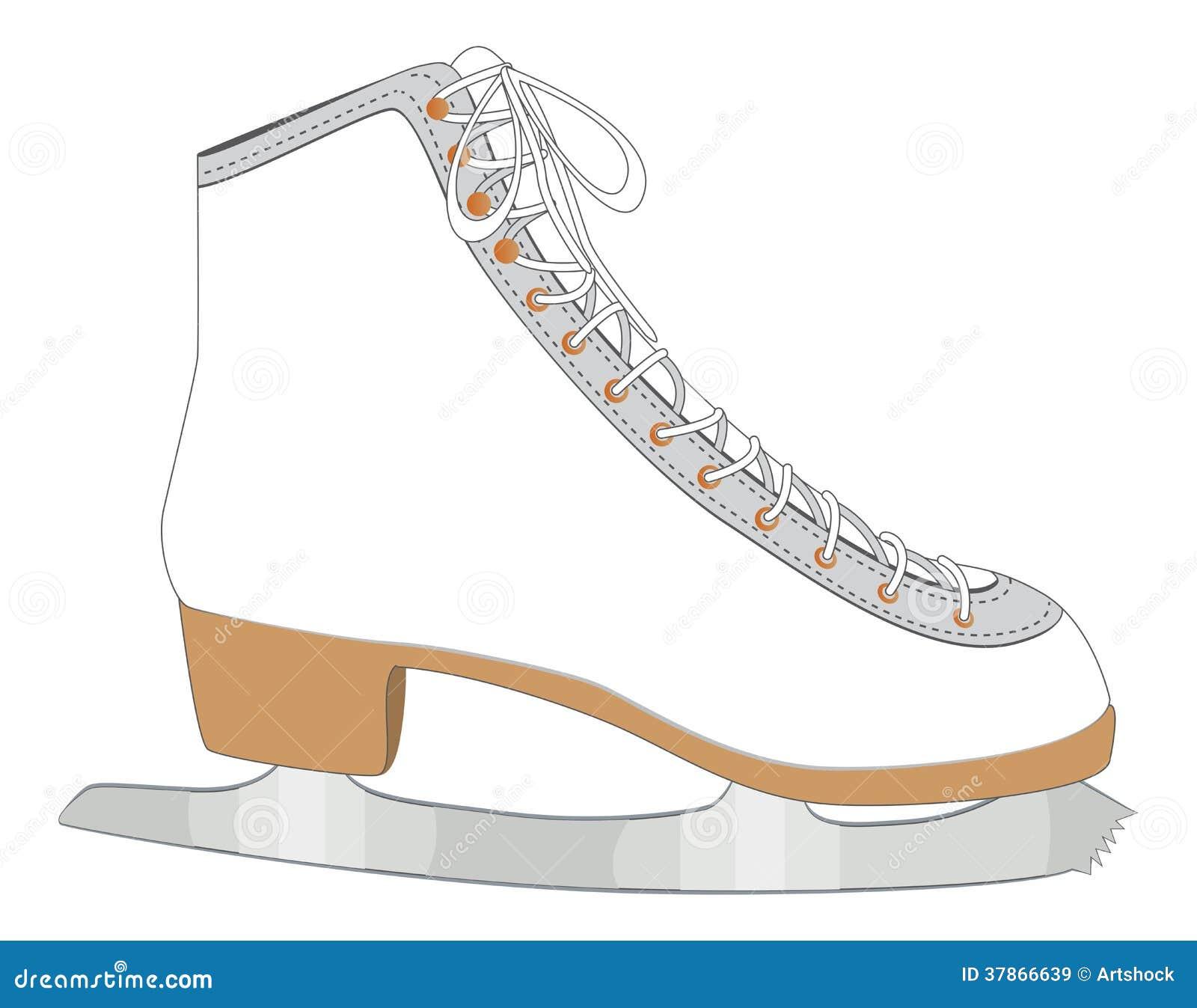 patin de glace blanc illustration de vecteur illustration du glace 37866639. Black Bedroom Furniture Sets. Home Design Ideas