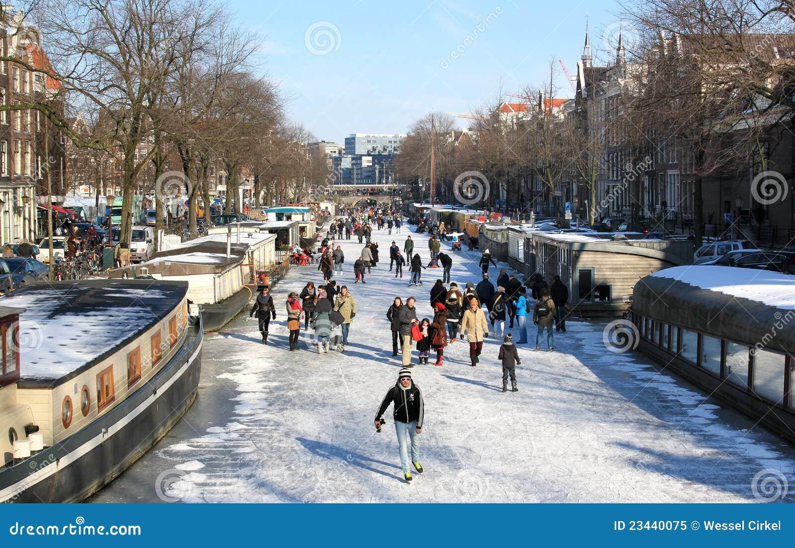 Patinage Au Dessus Des Canaux Congel 233 S Hollandais 224
