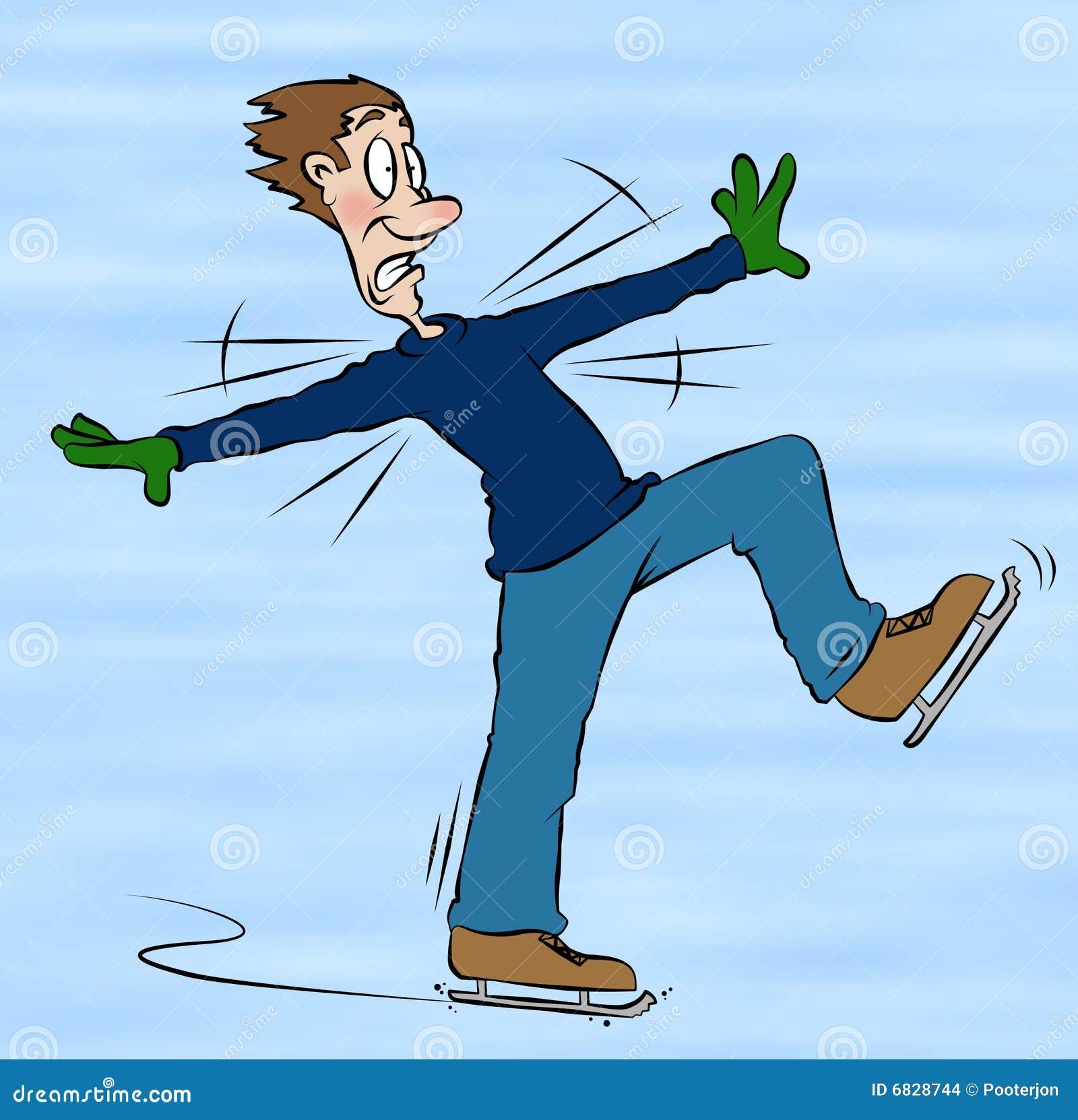 Patinage de glace de dessin anim photo stock illustration du glissade tomber 6828744 - Dessin patinoire ...