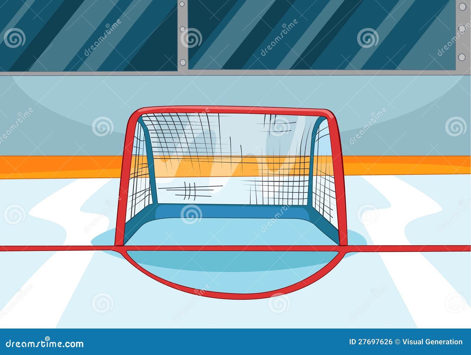 Patinoire d 39 hockey image libre de droits image 27697626 - Dessin patinoire ...