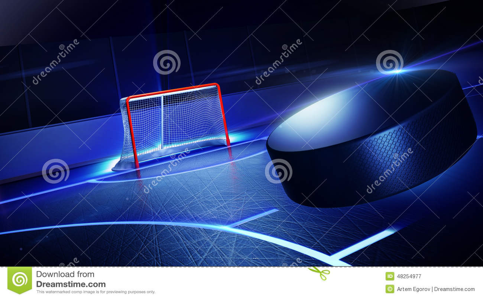 Patinoire et but d hockey
