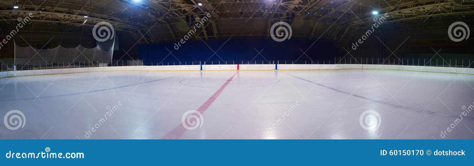 Patinoire vide, arène d hockey