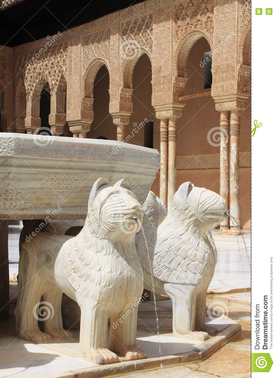 Decorations of the alhambra in granada stock image for Alhambra decoration