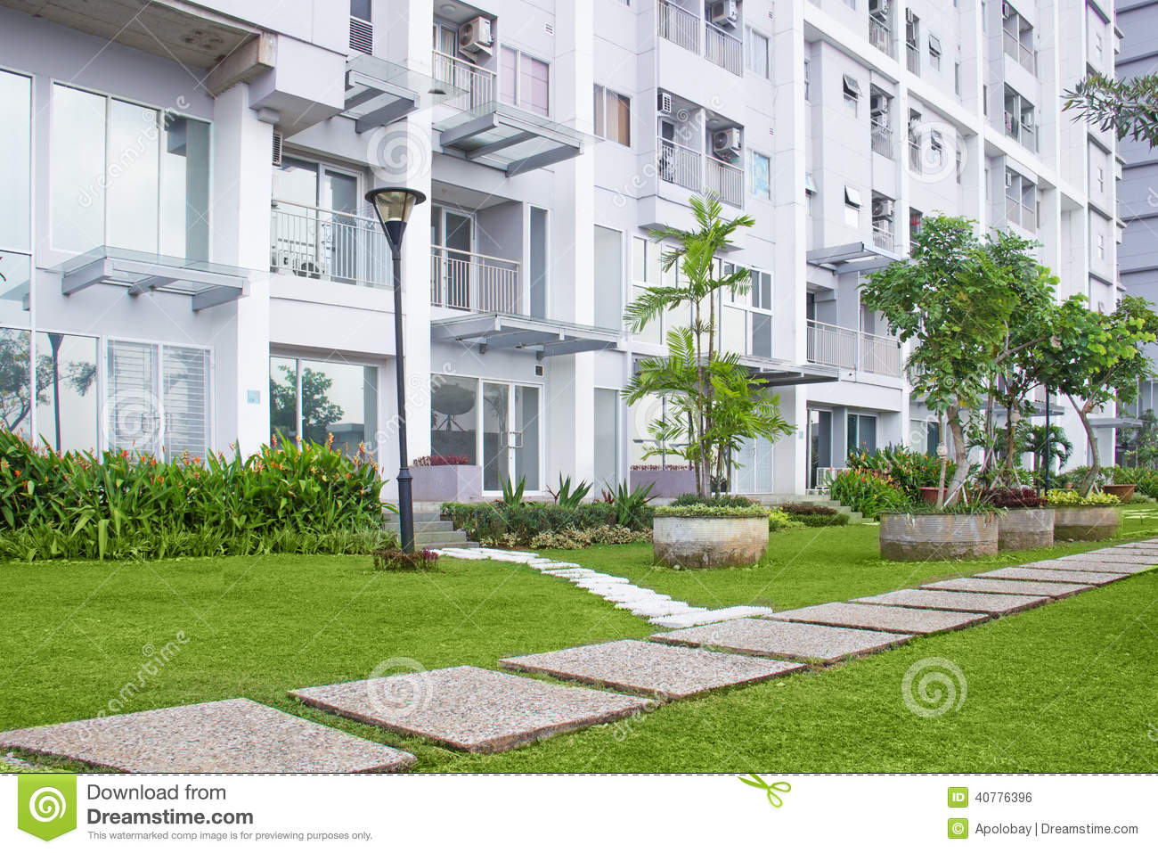patio in the apartment stock photo image 40776396