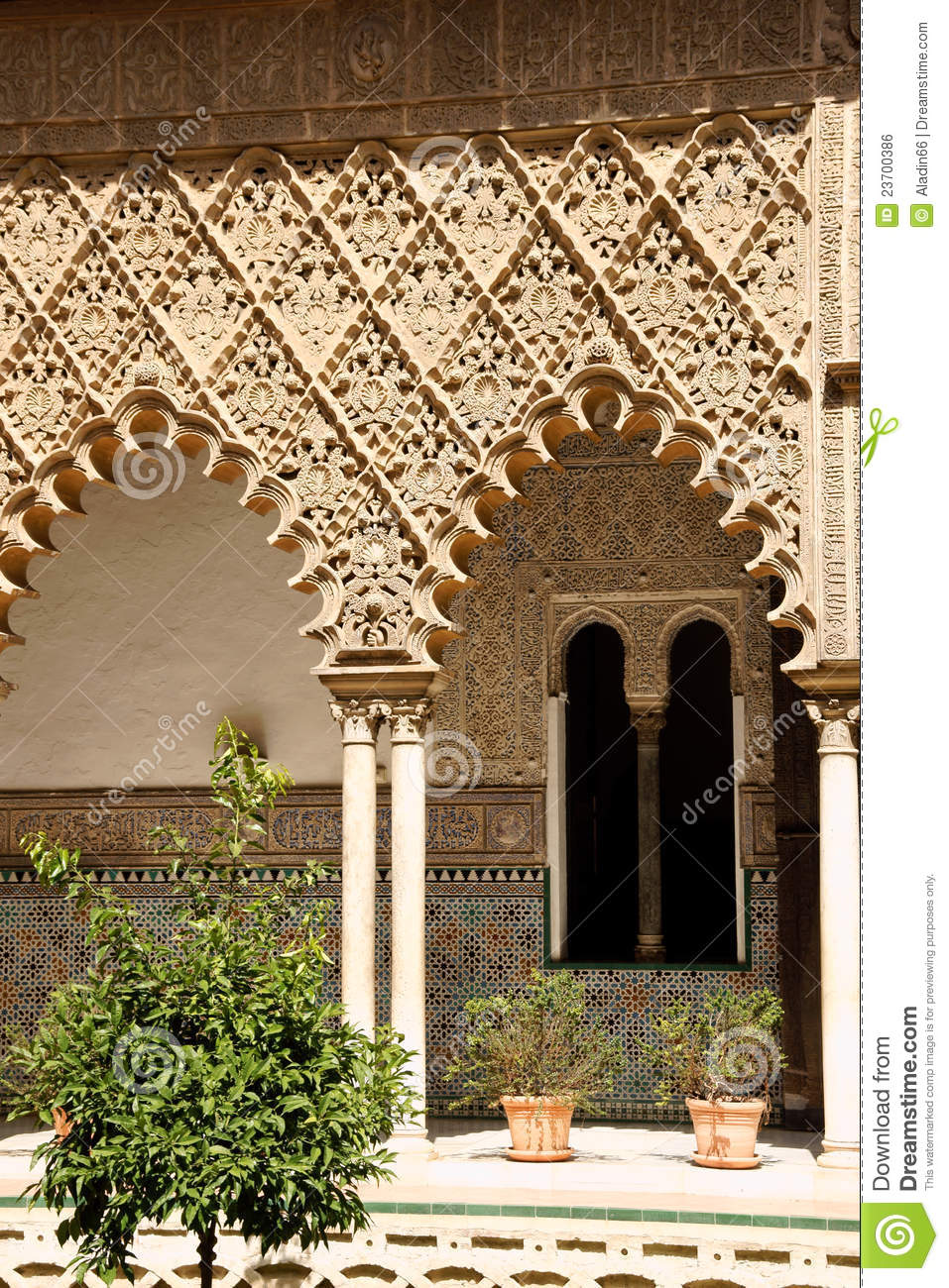 Patio de las Doncellas in Siviglia