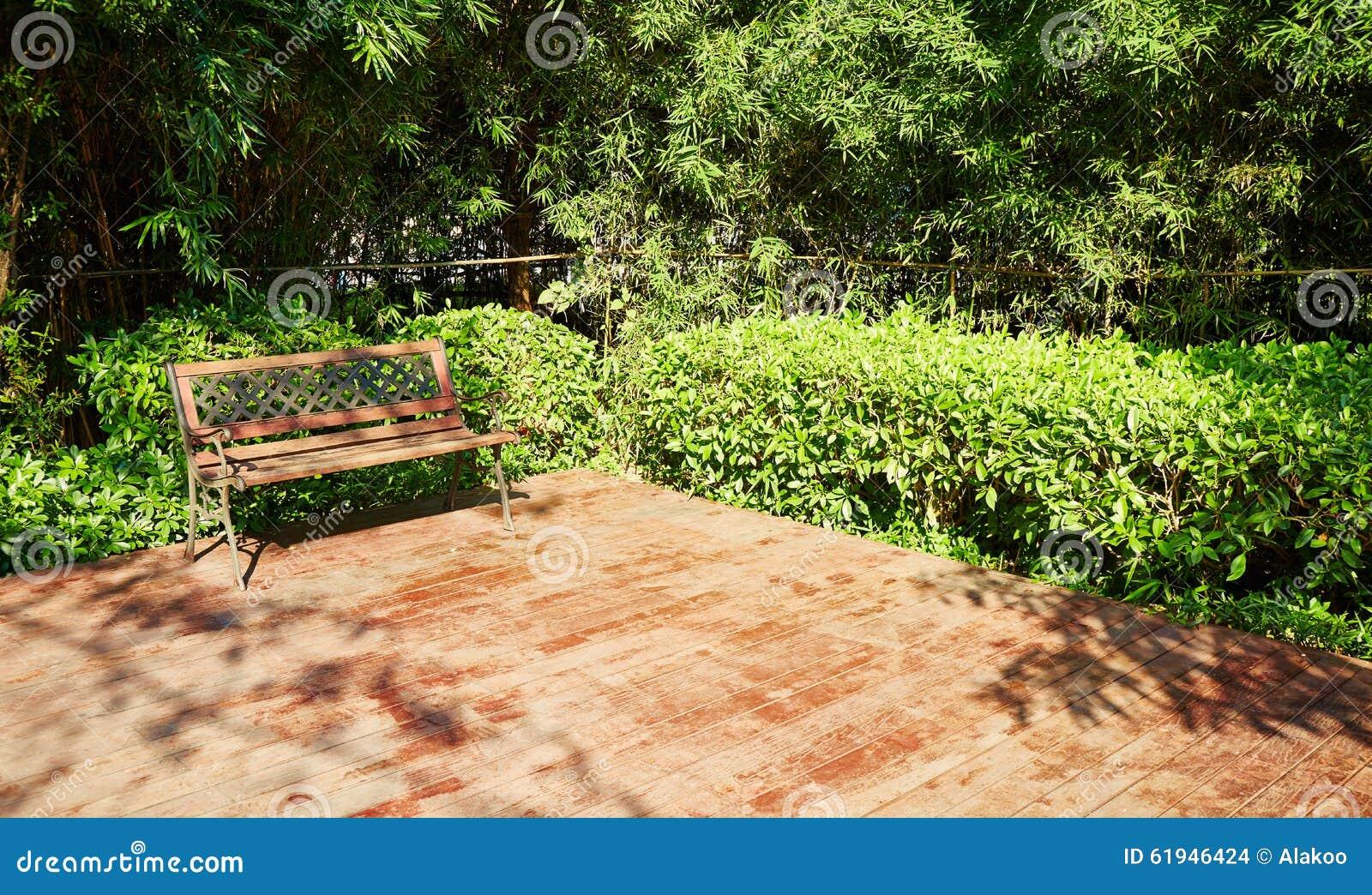 Patio Exterieur D Arriere Cour Dans Le Jardin Photo Stock
