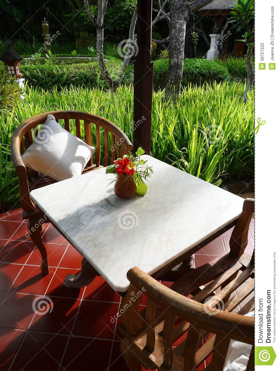 Download Patio Furniture Of A Balinese Garden Stock Image - Image of  furnishing, building: - Patio Furniture Of A Balinese Garden Stock Image - Image Of