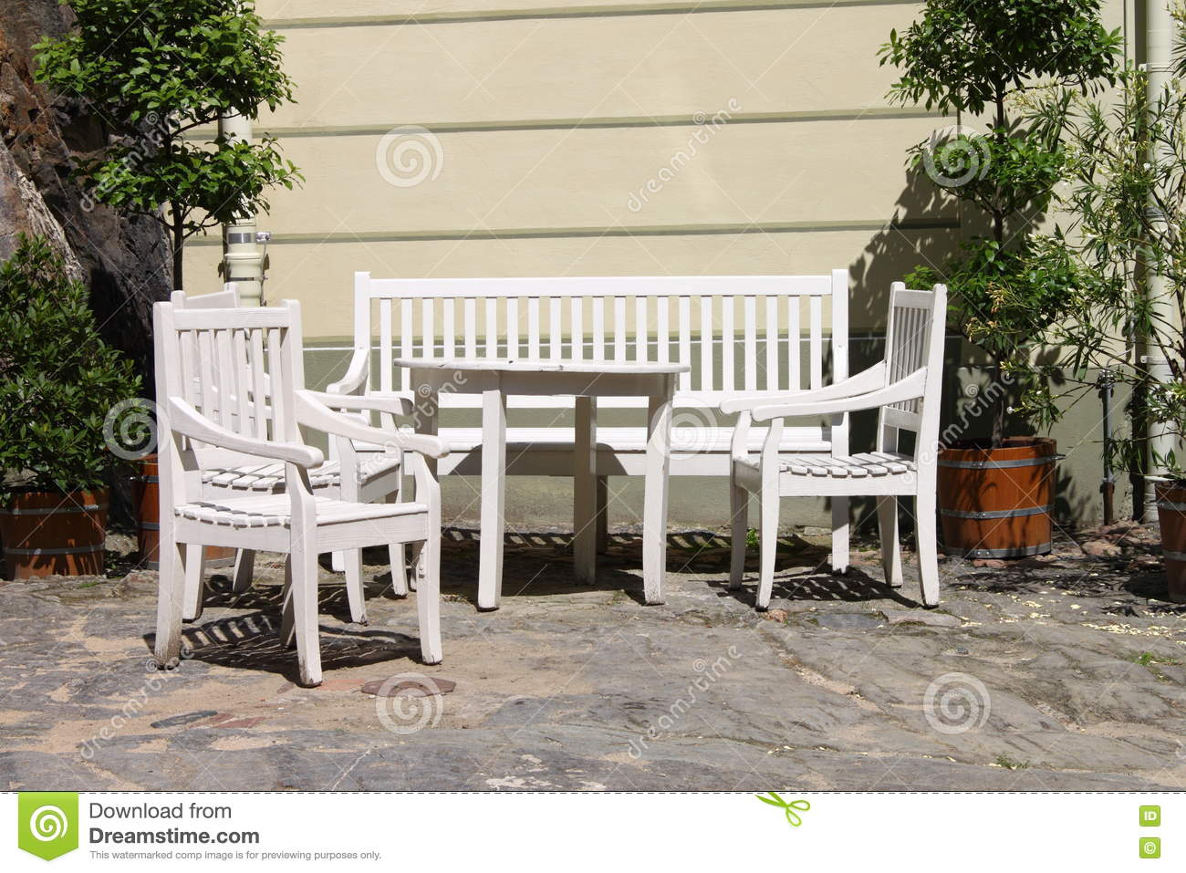 Patio Furniture Outdoor Stock Image Image Of Comfortable 75406659