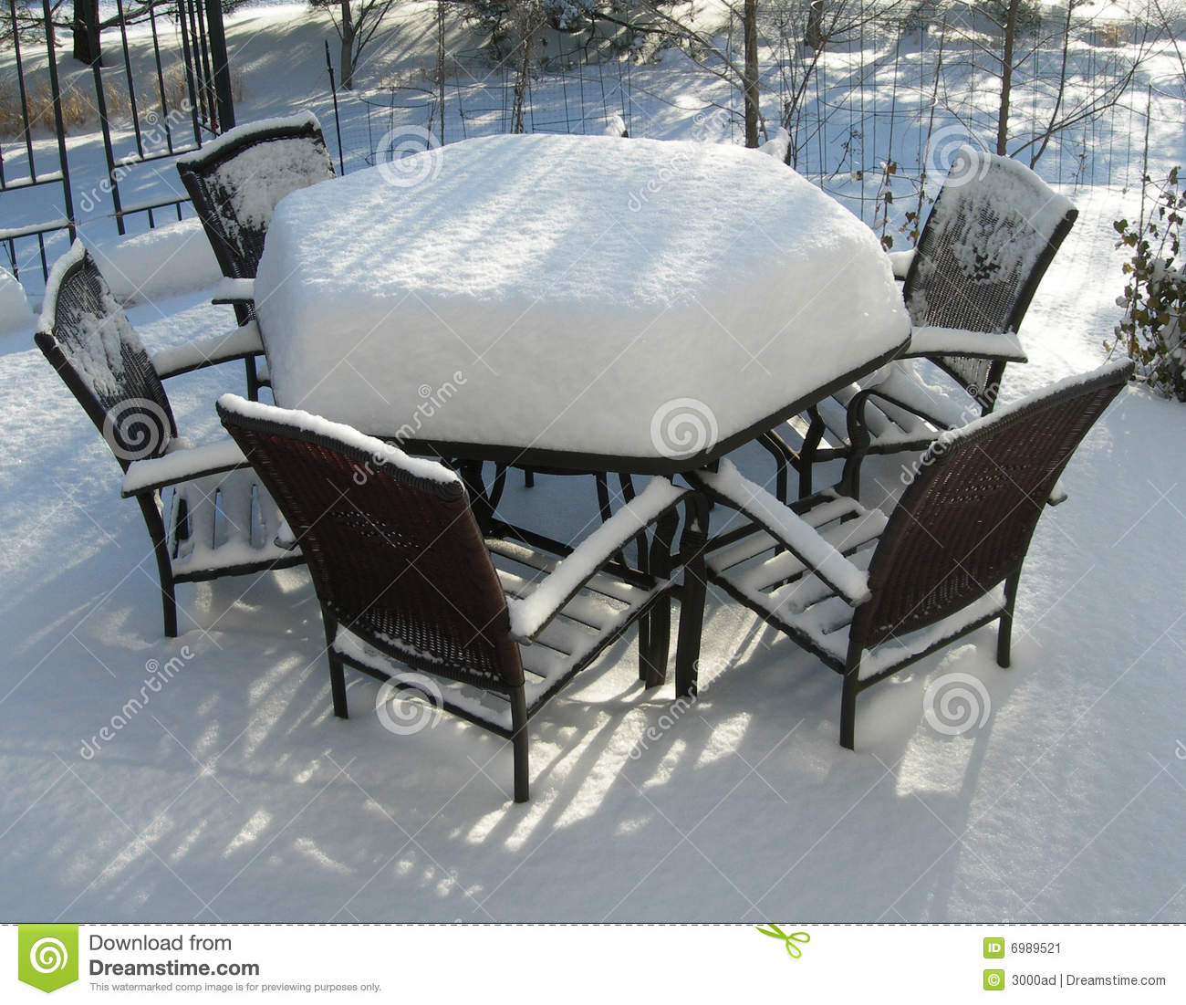 Miraculous Patio Furniture In Winter Stock Image Image Of Cold Winter Download Free Architecture Designs Embacsunscenecom