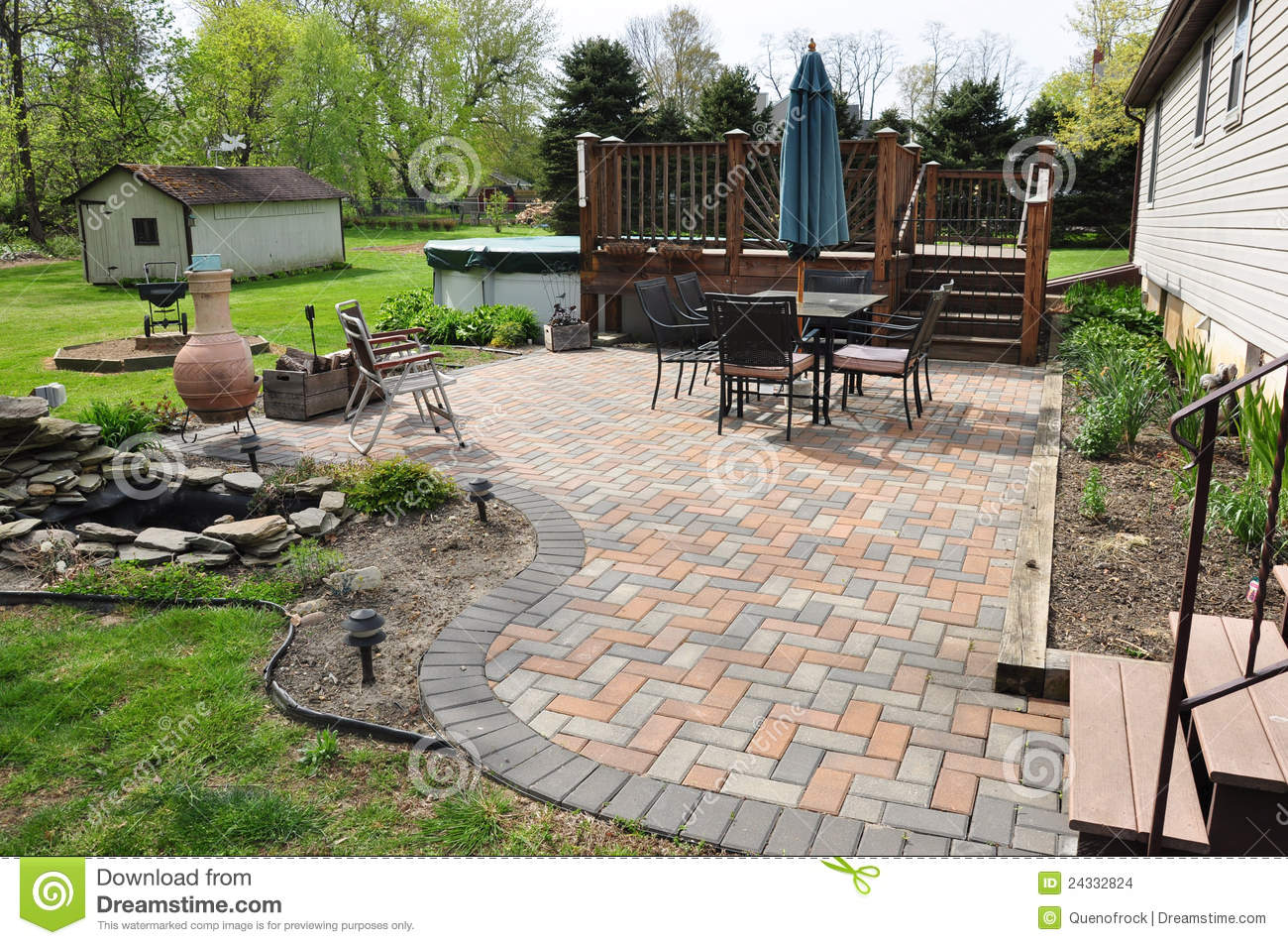 Stock Images Patio Garden Image24332824 on Small House Plan 3d Home Design