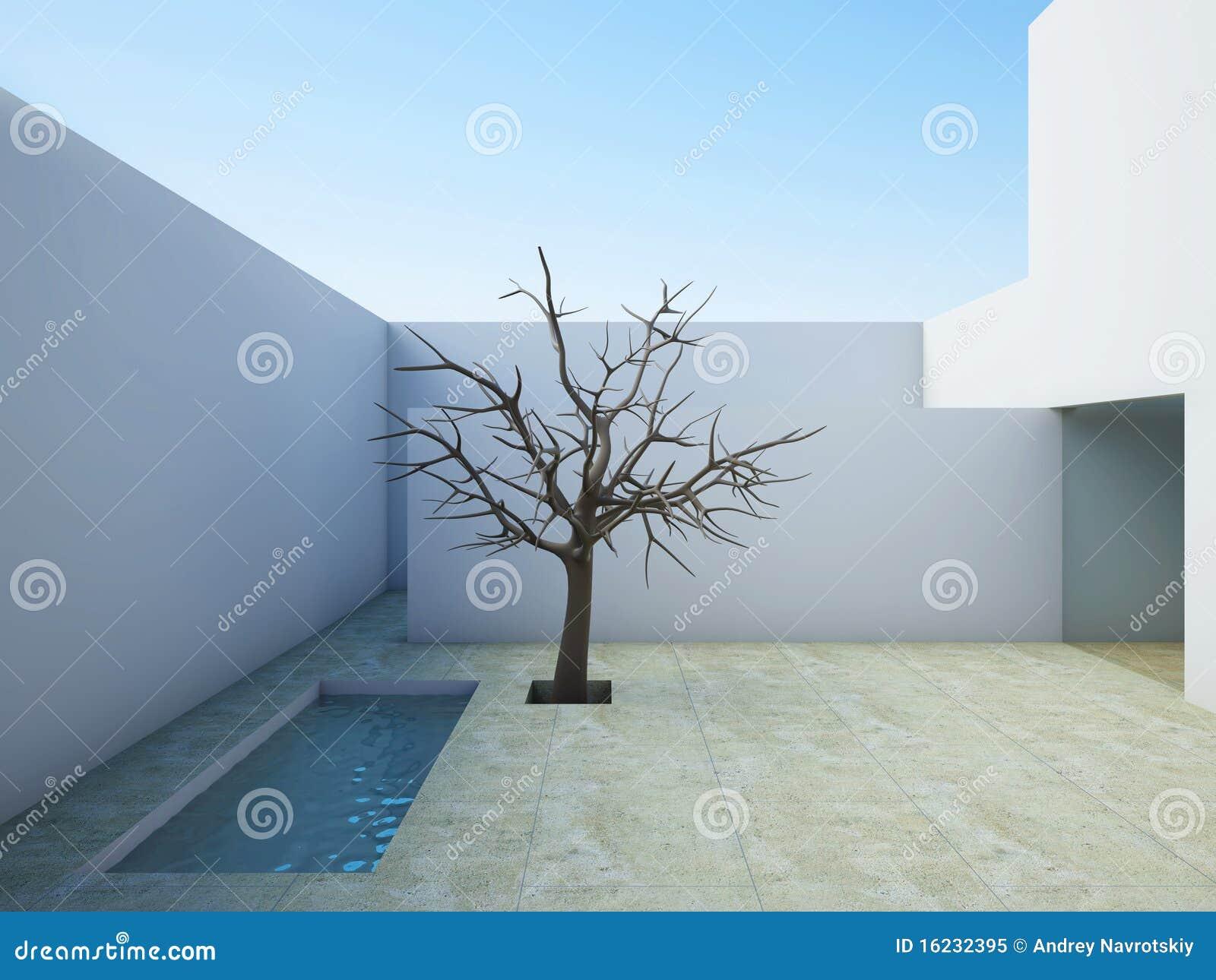 Patio Moderno. Fotografia Stock Libera da Diritti - Immagine: 16232395