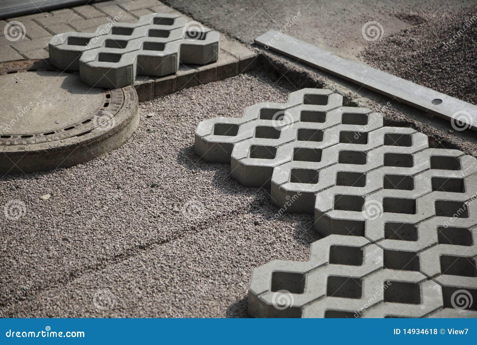 Patio Paving Blocks On Sand Stock Photo Image 14934618