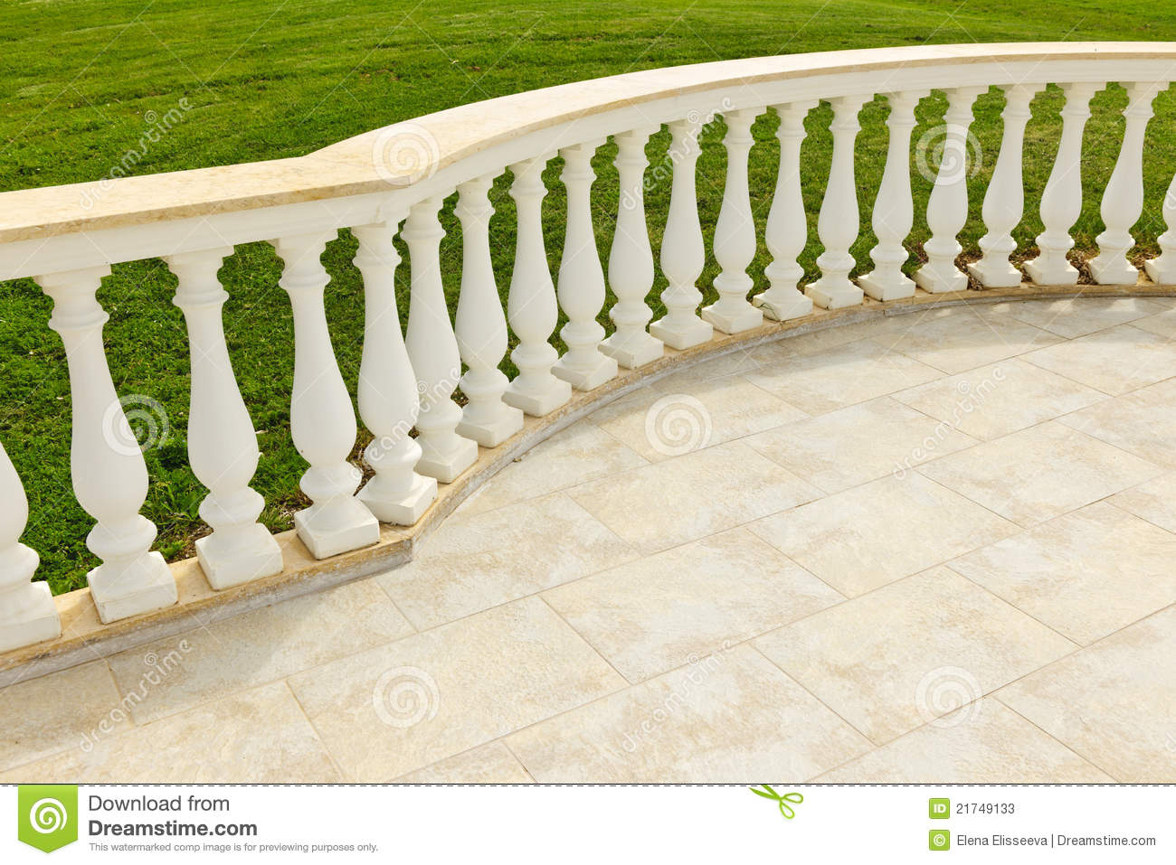 Patio With Railing