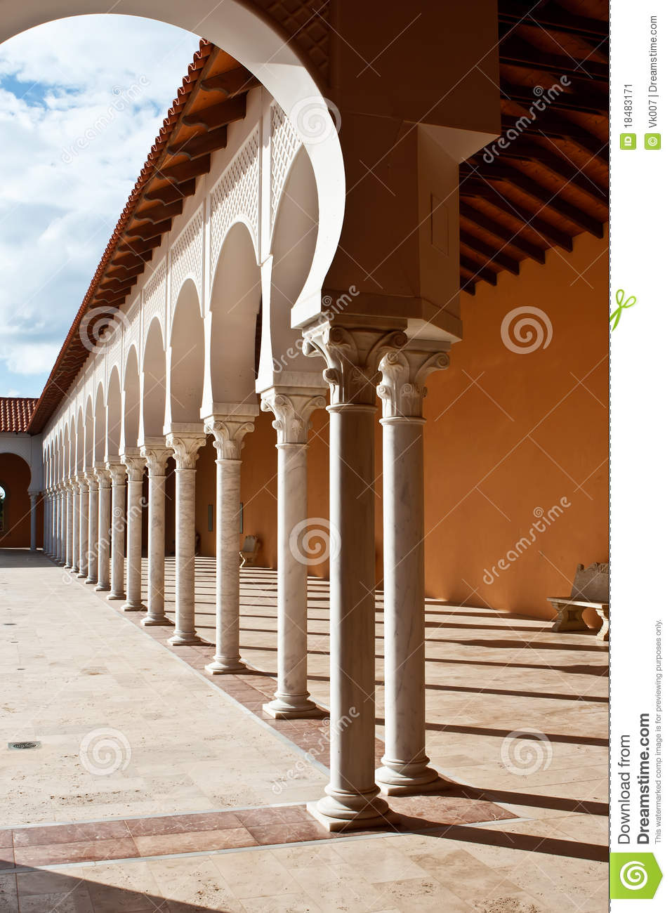 Download Patio In Spanish Style. Israel Stock Image   Image Of Design, Patio :