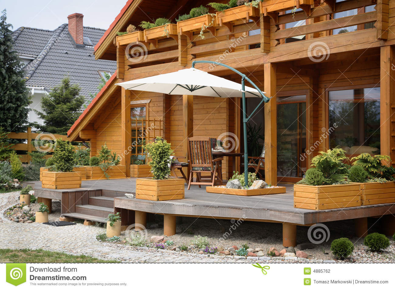 Patio of a Wood House
