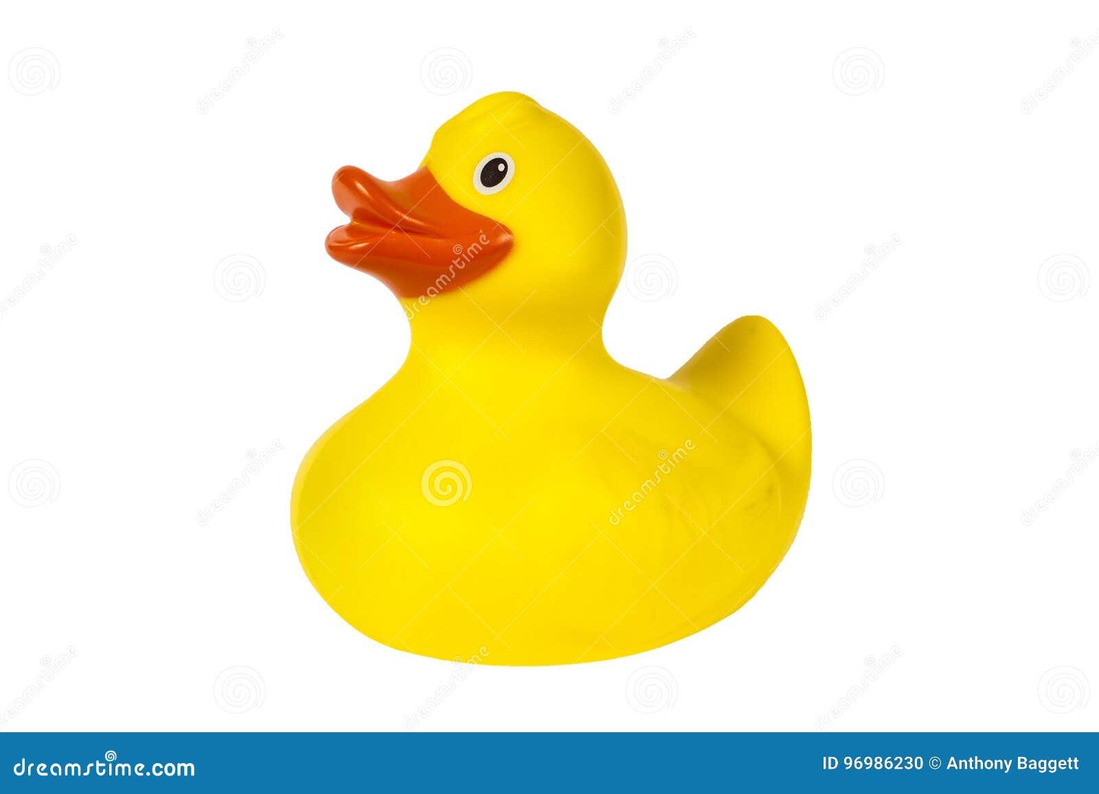 Pato de borracha plástico amarelo