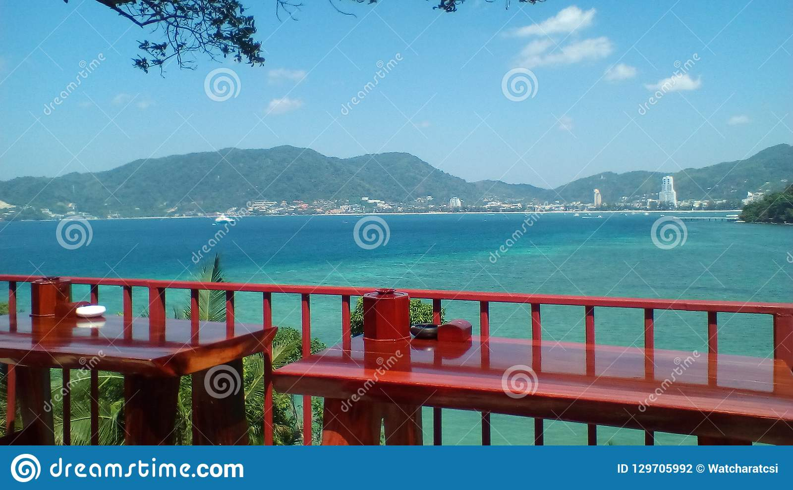 Patong beach view on the west coast of Phuket Island, Thailand