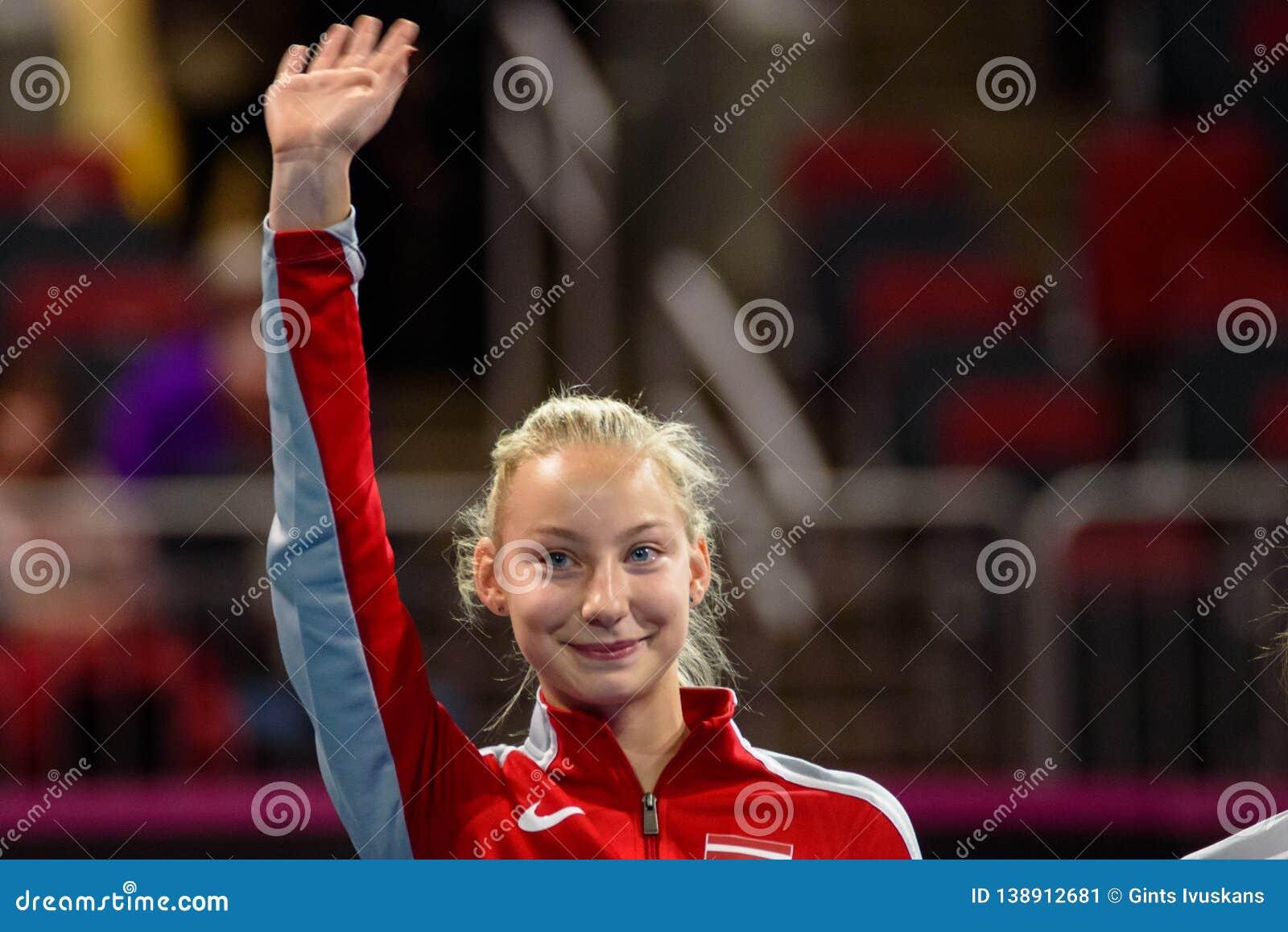 Patricija Spaka, durante jogo redondo do grupo II do mundo de FEDCUP BNP Paribas o primeiro