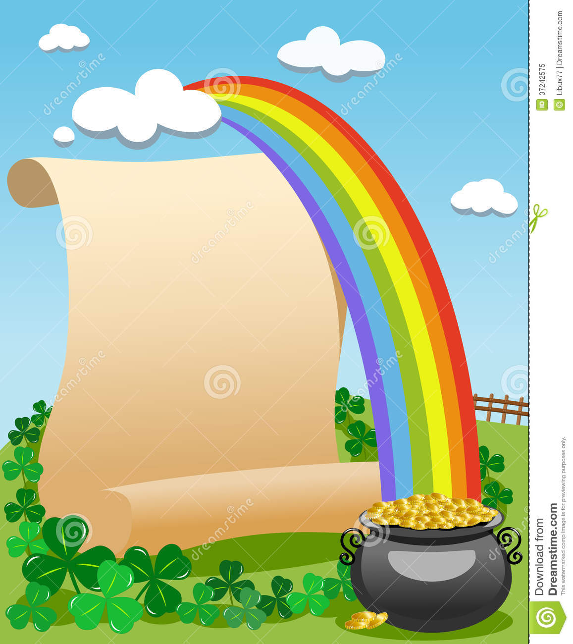 Patrick S Day Old Parchment Rainbow Royalty Free Stock Photo - Image ...