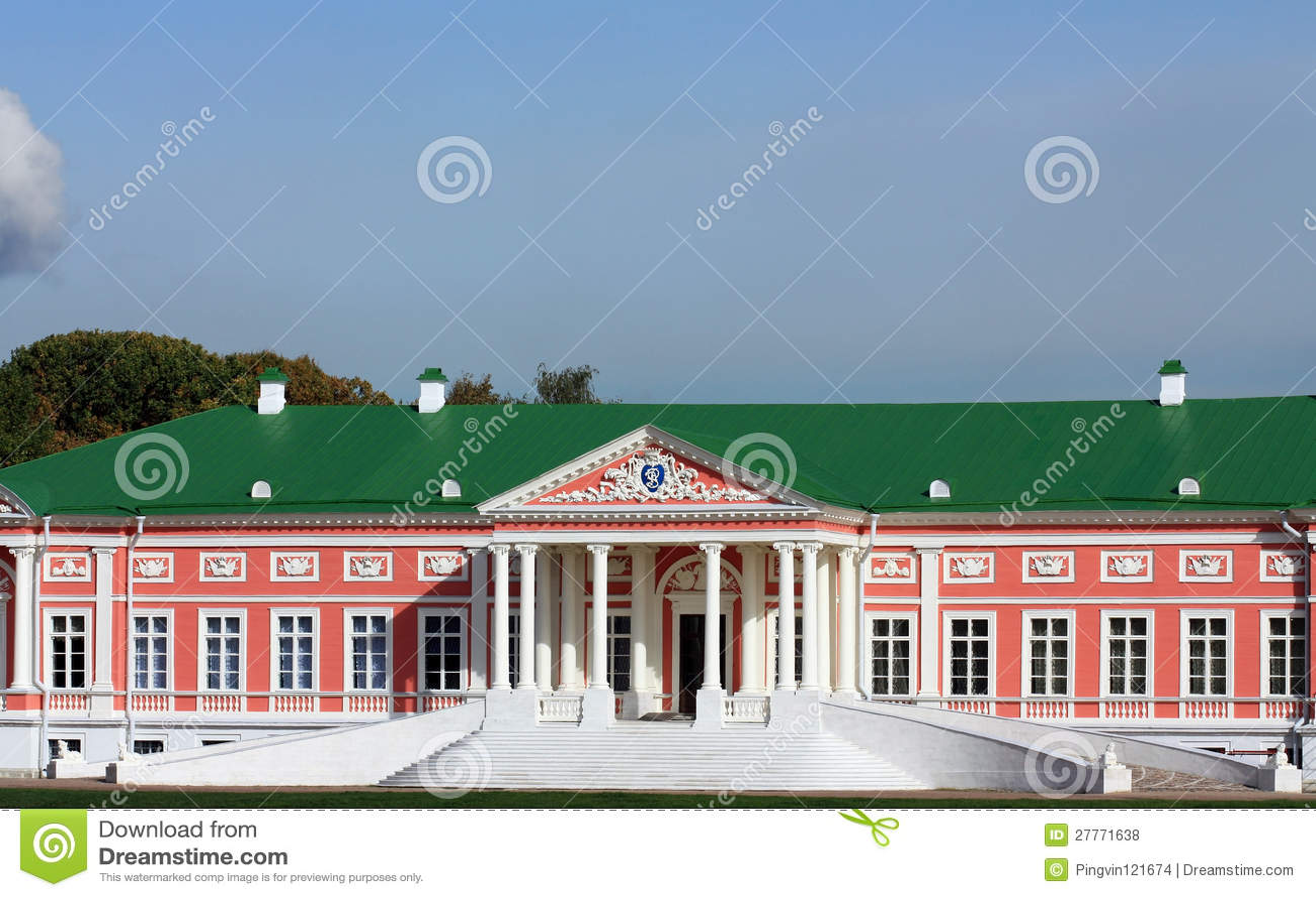 Patrimoine de Kuskovo. Façade du palais ducal