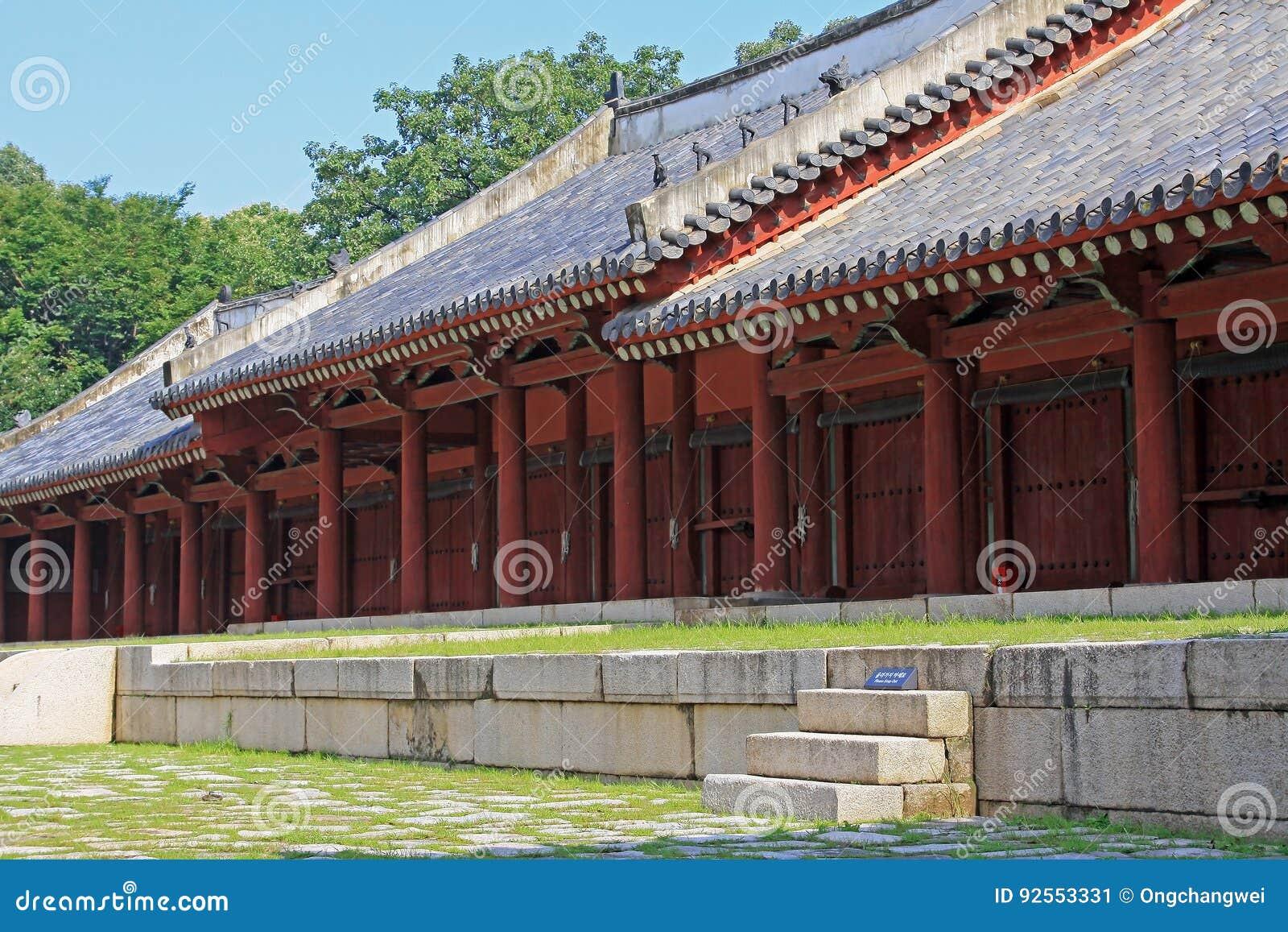 Patrimonio mondiale dell Unesco della Corea - santuario di Jongmyo