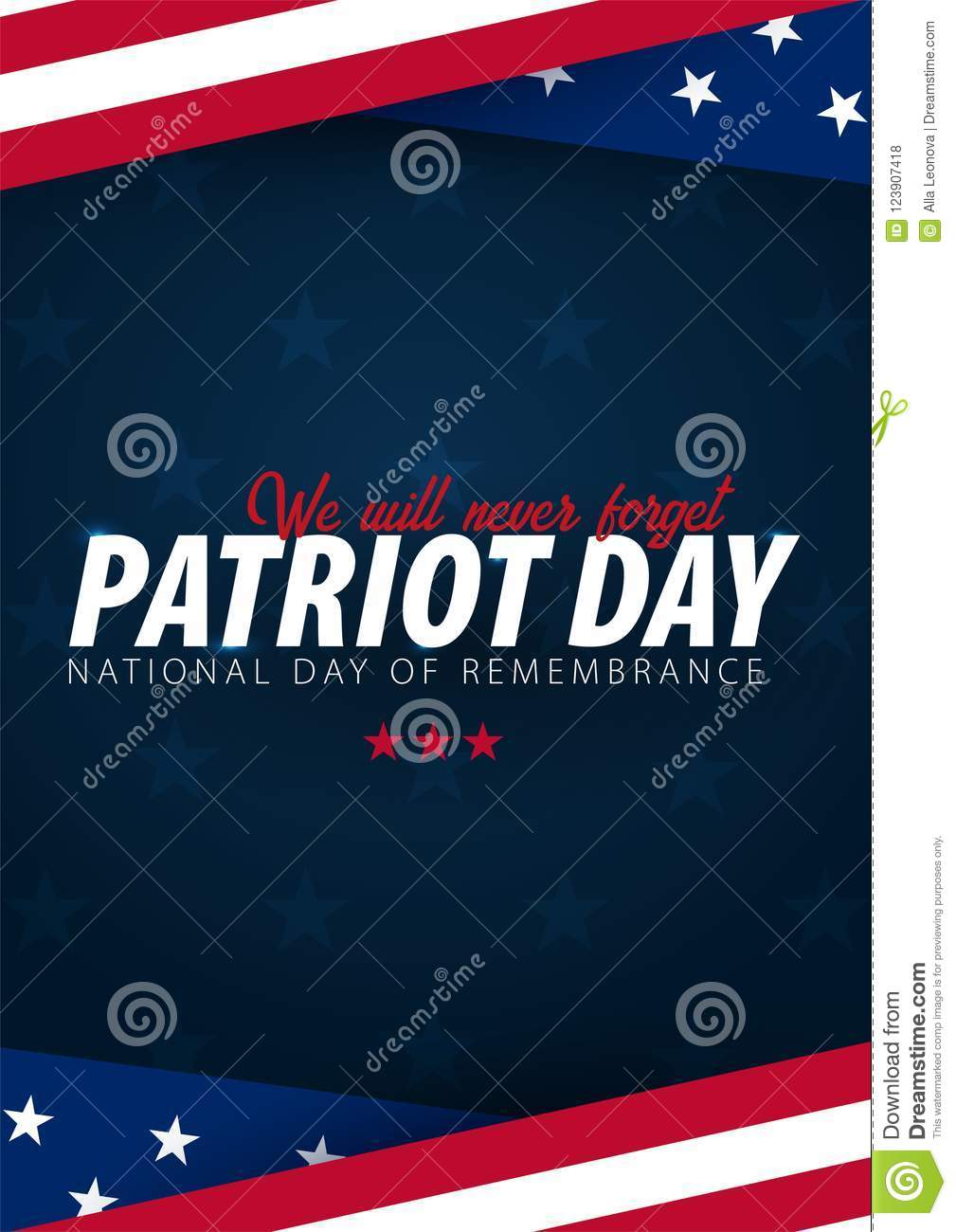 Patriot Day Promotion Advertising Poster Banner Template With