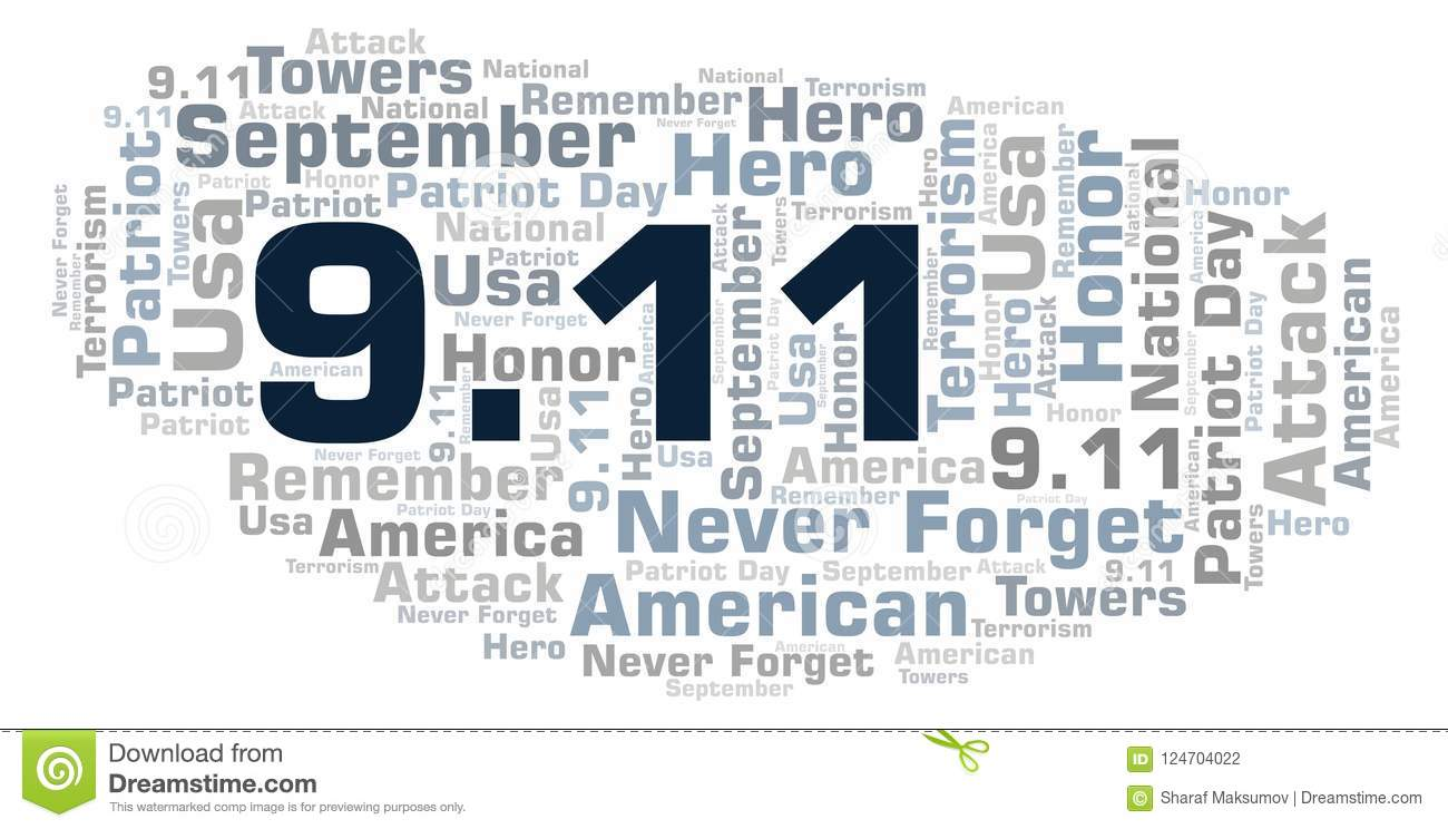 9.11 Patriot Day word cloud.
