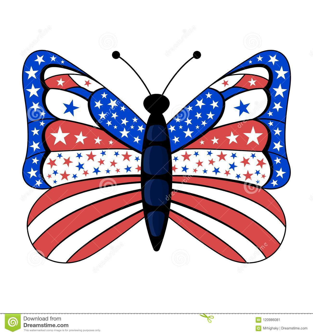 71421658369 Patriotic american flag colors butterfly stock illustration jpg 1300x1390 American  flag butterfly