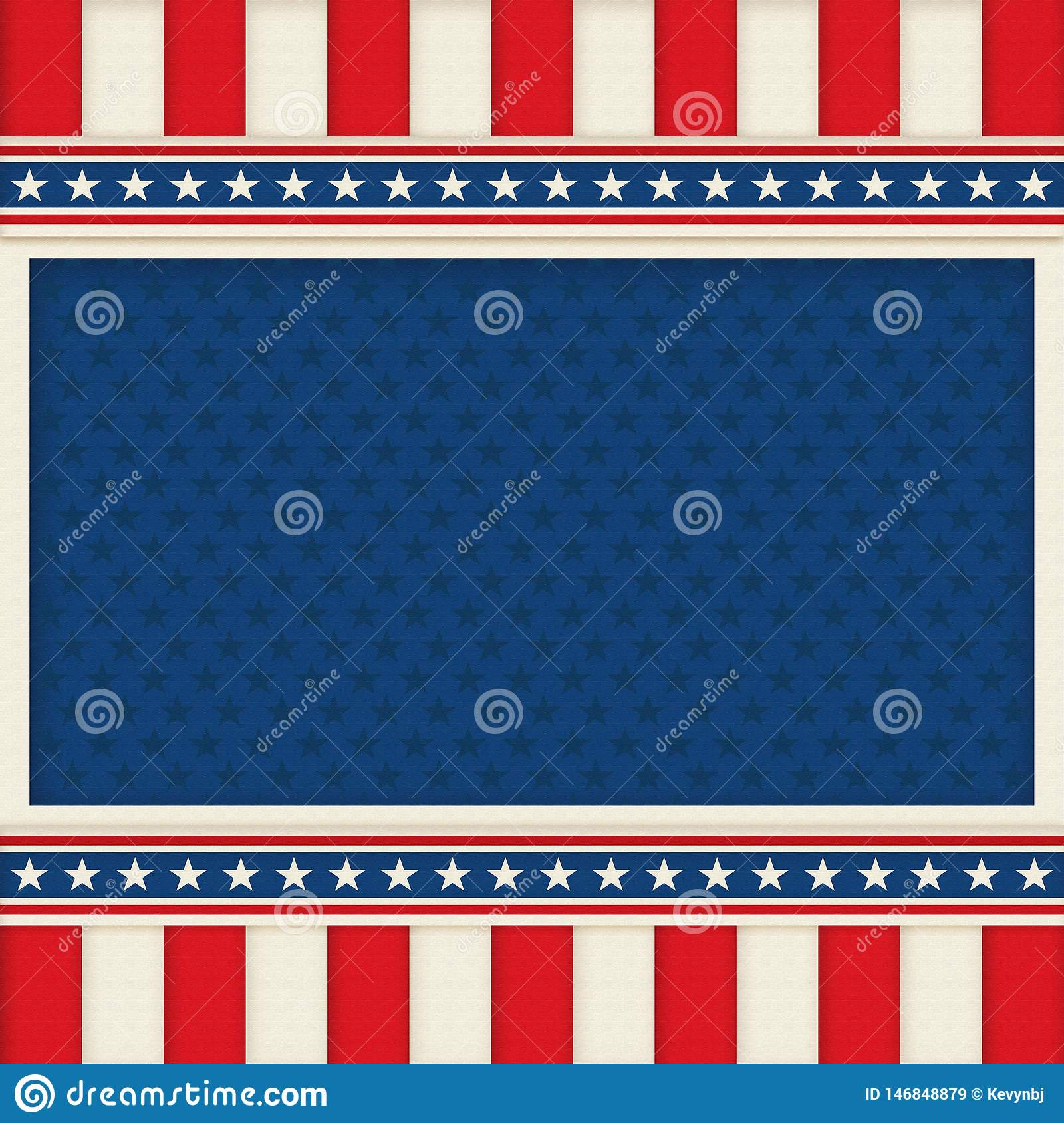 Patriotic Background Poster Art Memorial Day 4th of July