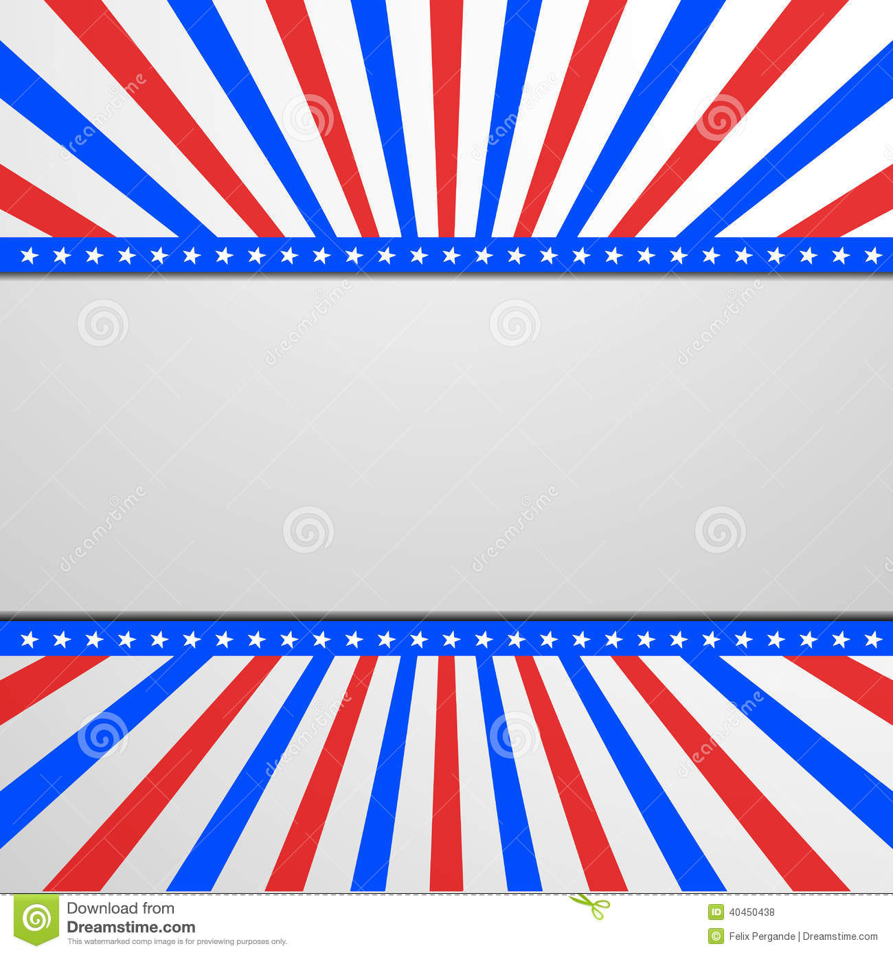 patriotic background with stars and stripes stock