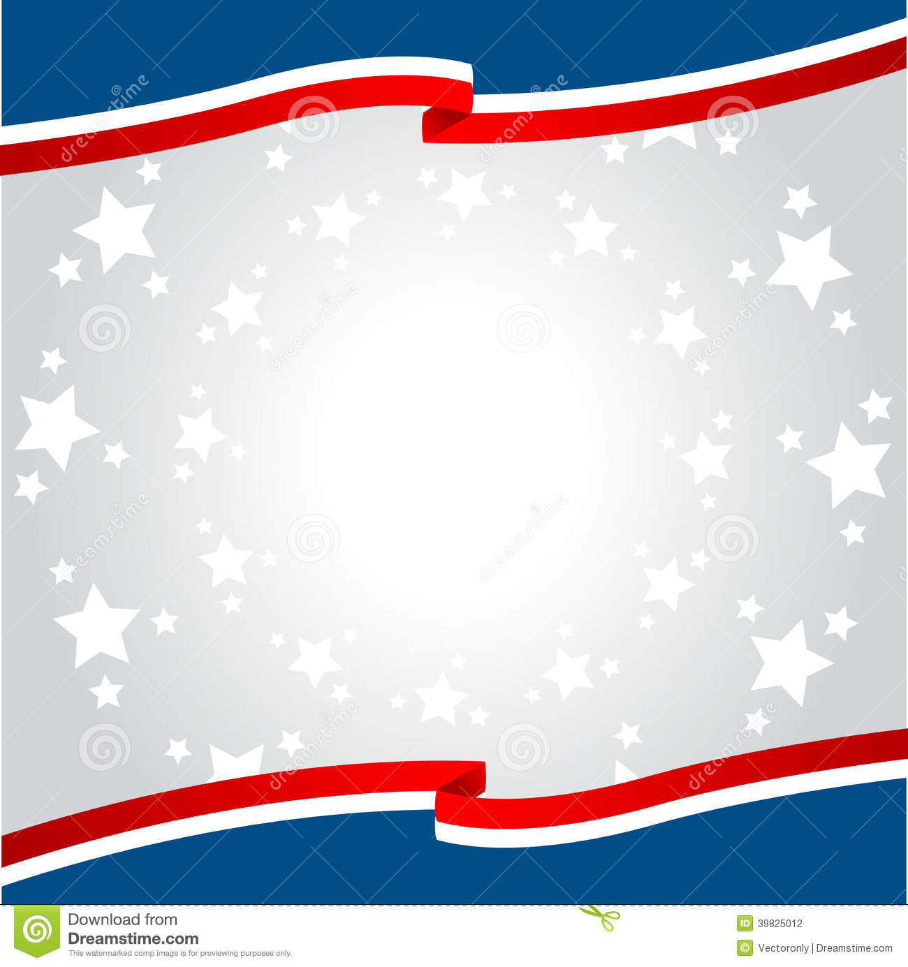 Blue and red patriotic stars and stripes page border frame design - Patriotic Background Stock Vector Image 39825012