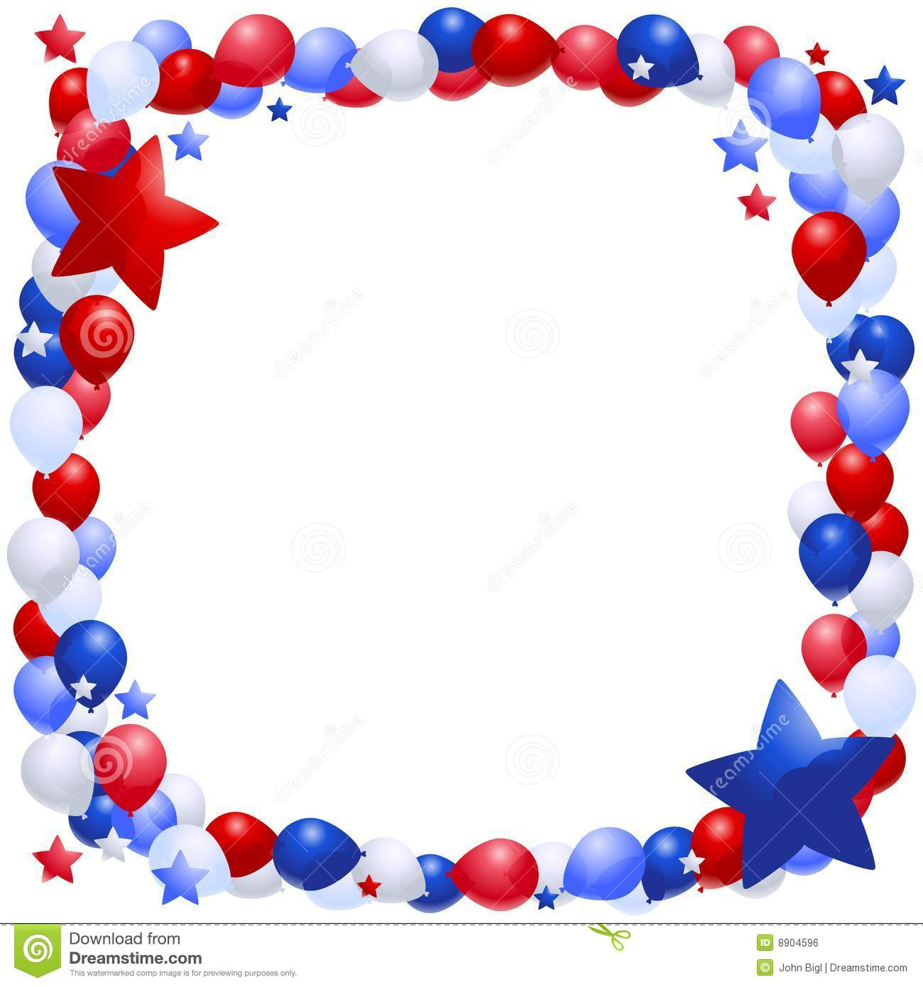 patriotic balloon frame royalty free stock image