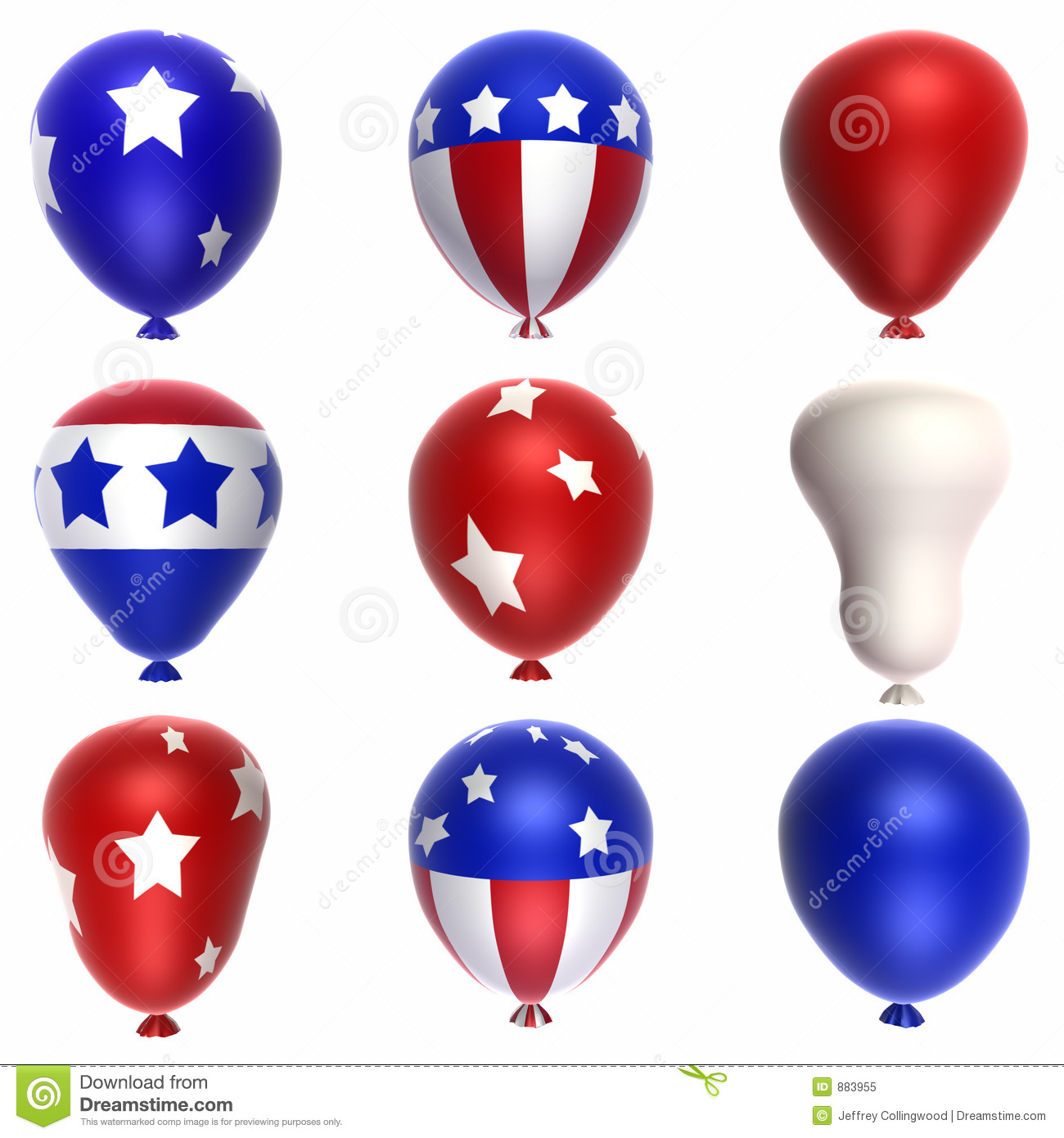 Patriotic Balloons Stock Illustration Illustration Of Balloon 883955