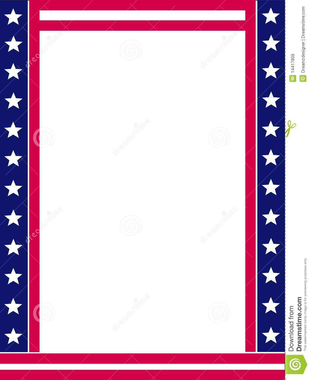 Patriotic Border Royalty Free Stock Images - Image: 14417809