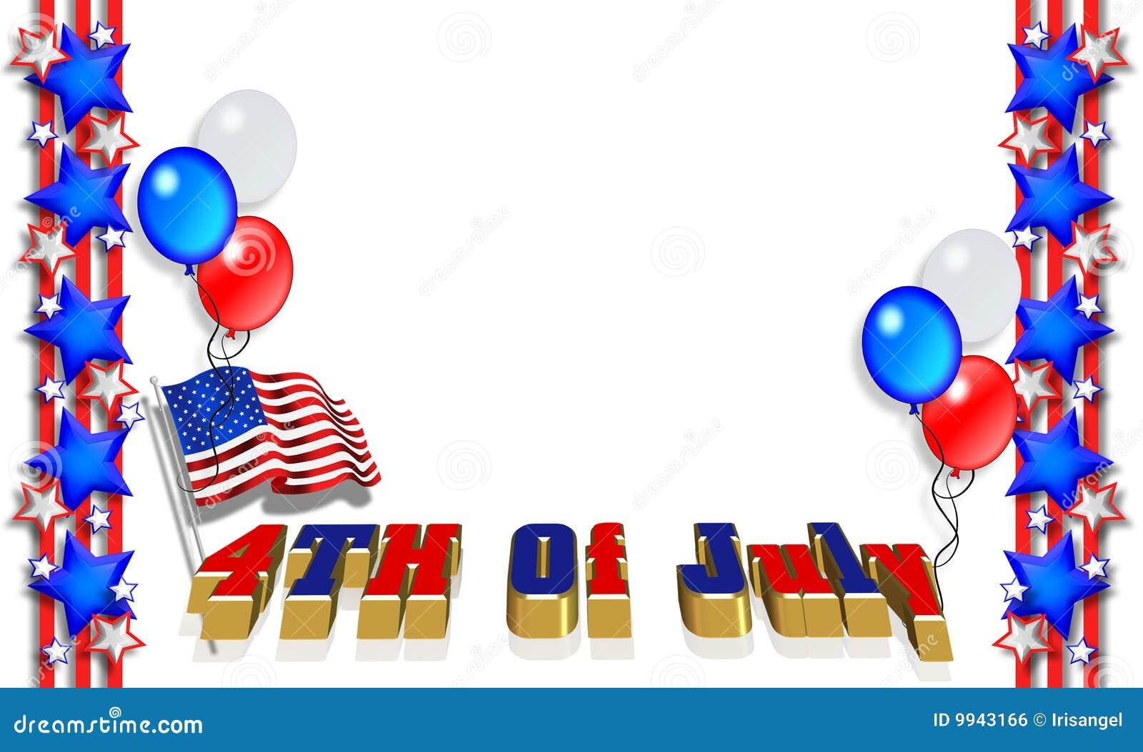 Patriotic Border 4th of July Royalty Free Stock Image