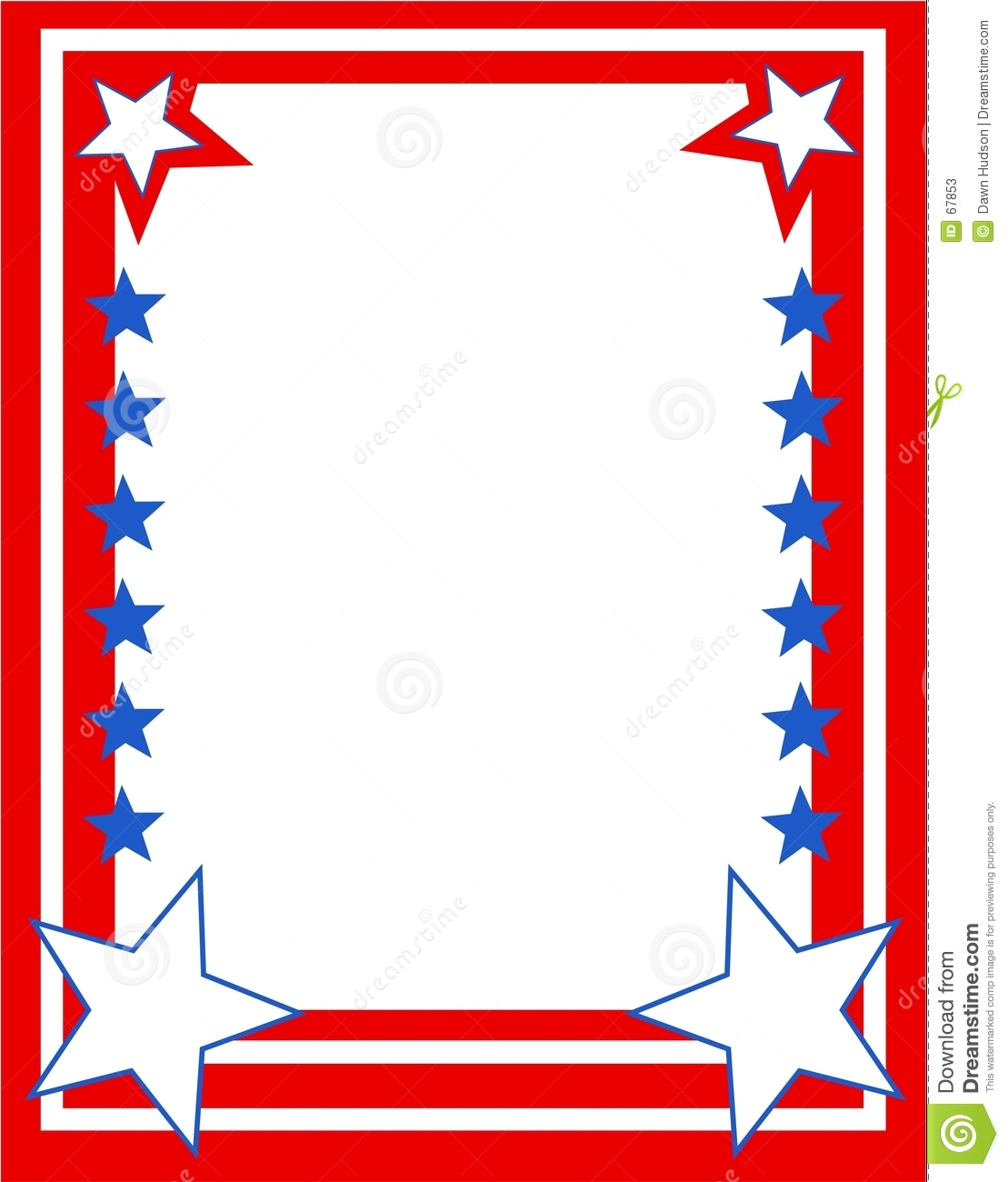 Patriotic stars and stripes page border. Useful for creating your own ...