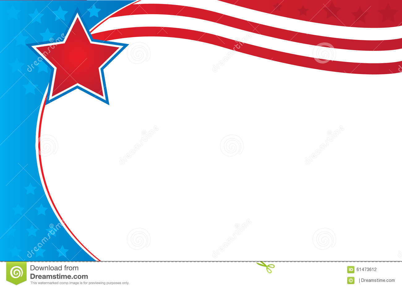 patriotic border flyer template stock illustration illustration of