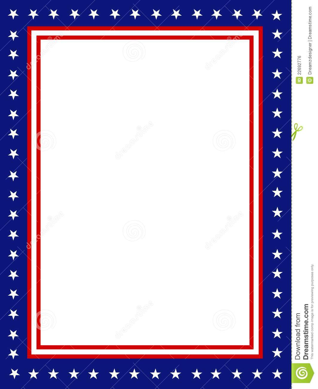 Patriotic border frame royalty free stock image image 22692776