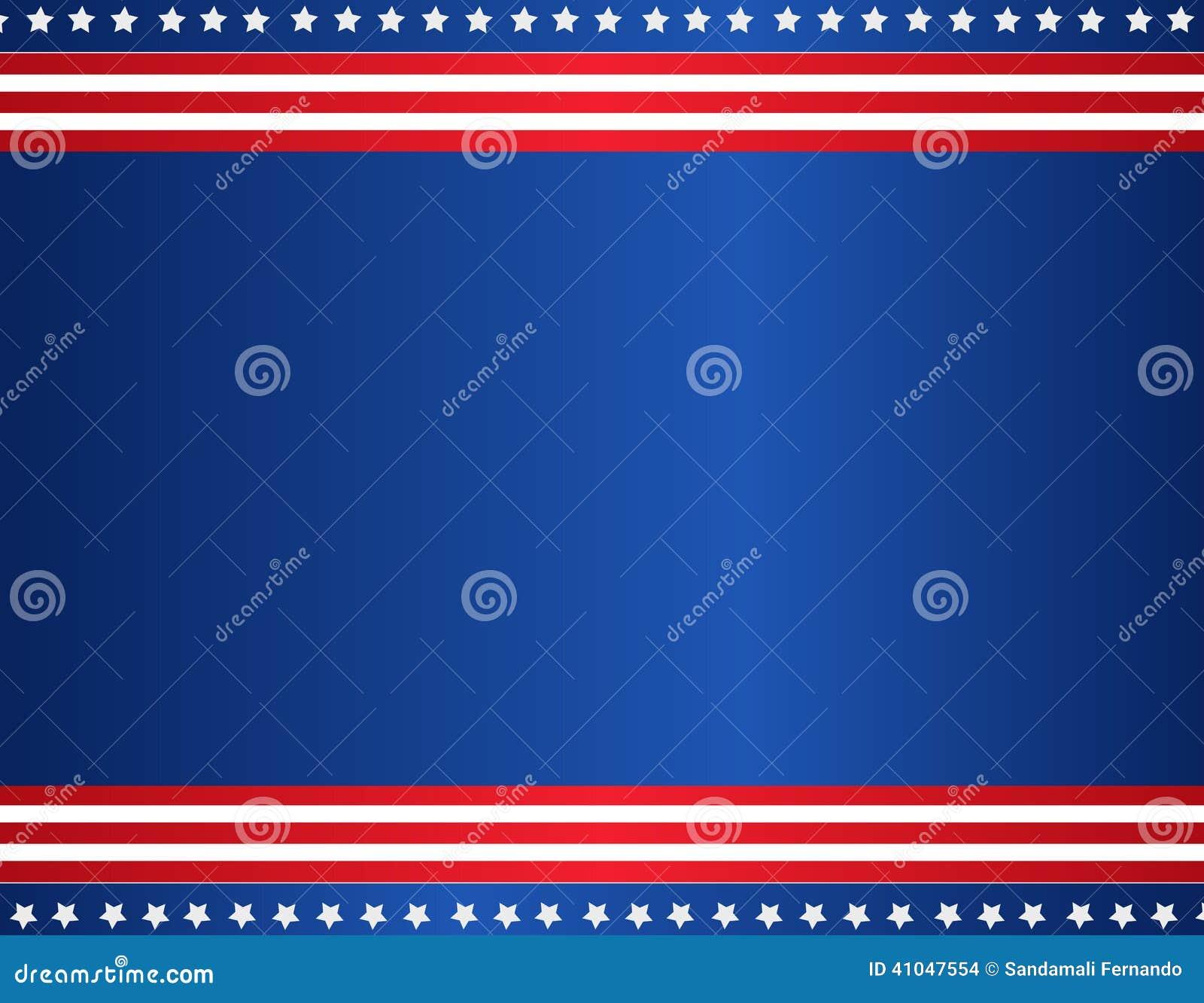 patriotic border stock vector