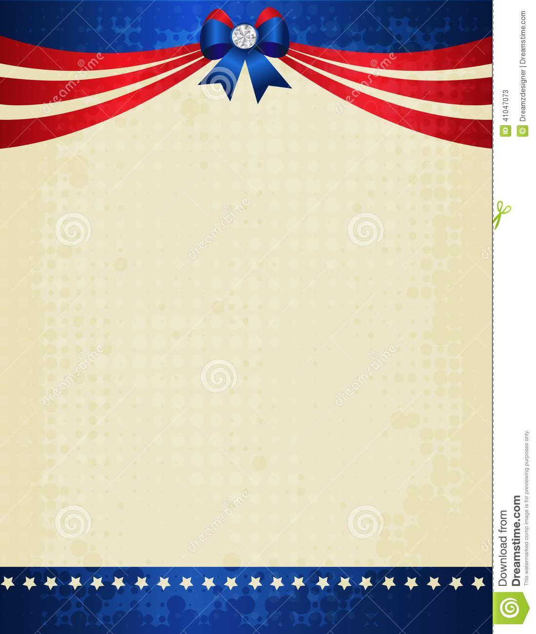 patriotic border stock vector  image of background