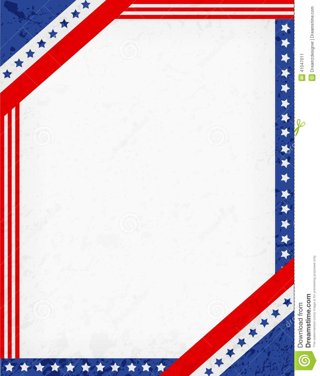 American Flag Borders Red and blue american flag