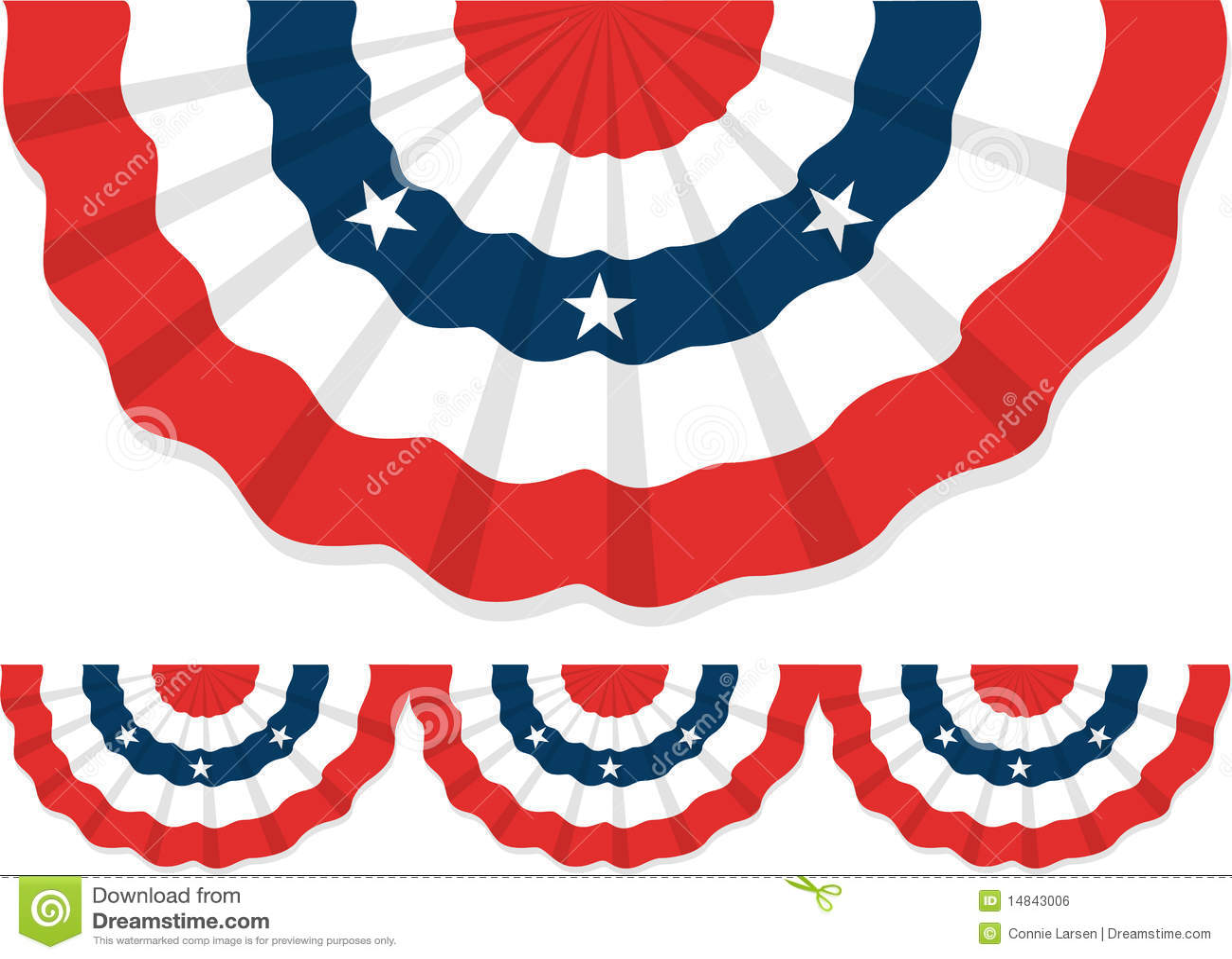 Patriotic Bunting/ai Royalty Free Stock Image - Image: 14843006