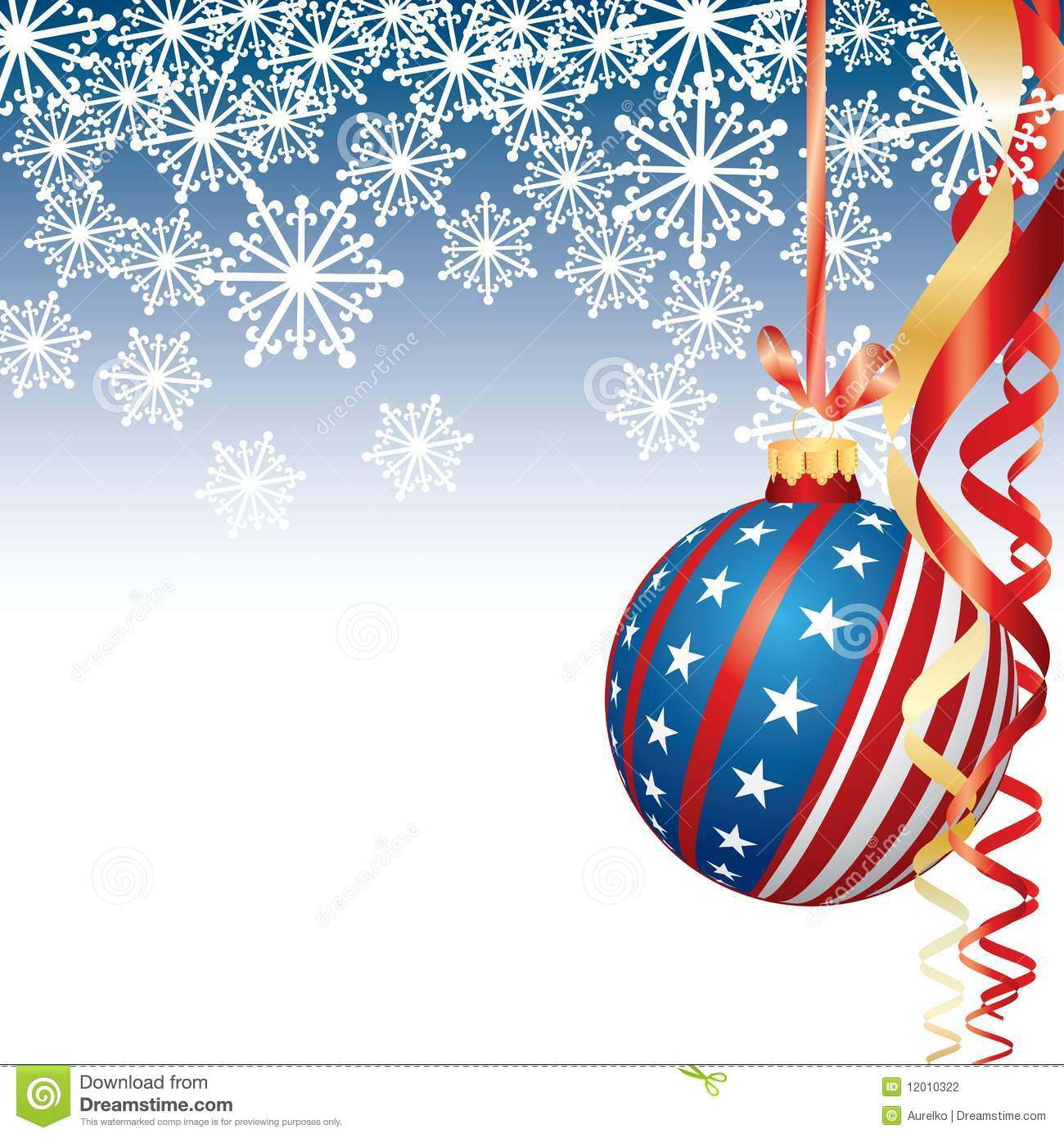 Patriotic Christmas stock vector. Illustration of concepts - 12010322